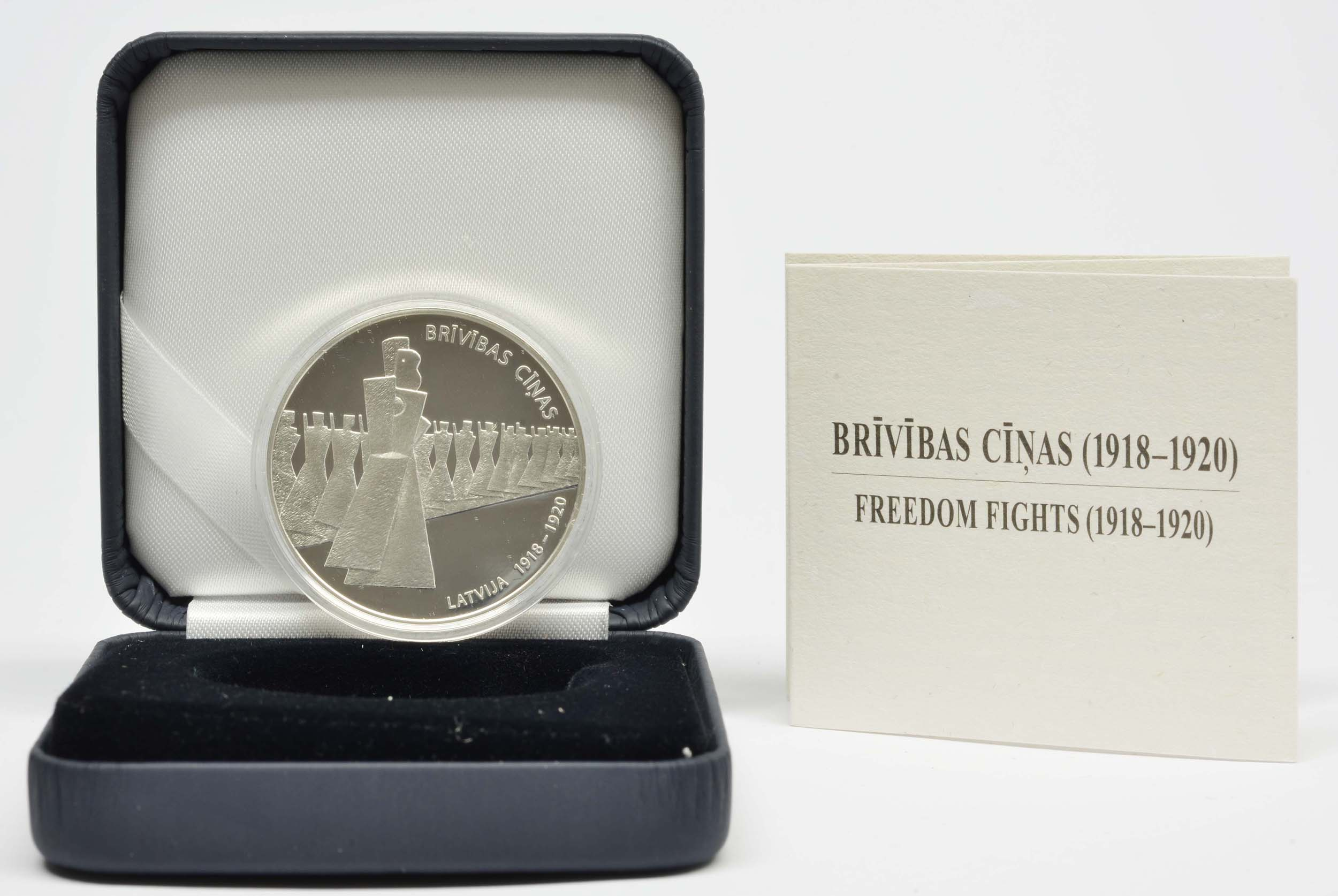 Lieferumfang:Lettland : 5 Euro Freiheitskämpfe 1918-1920  2019 PP