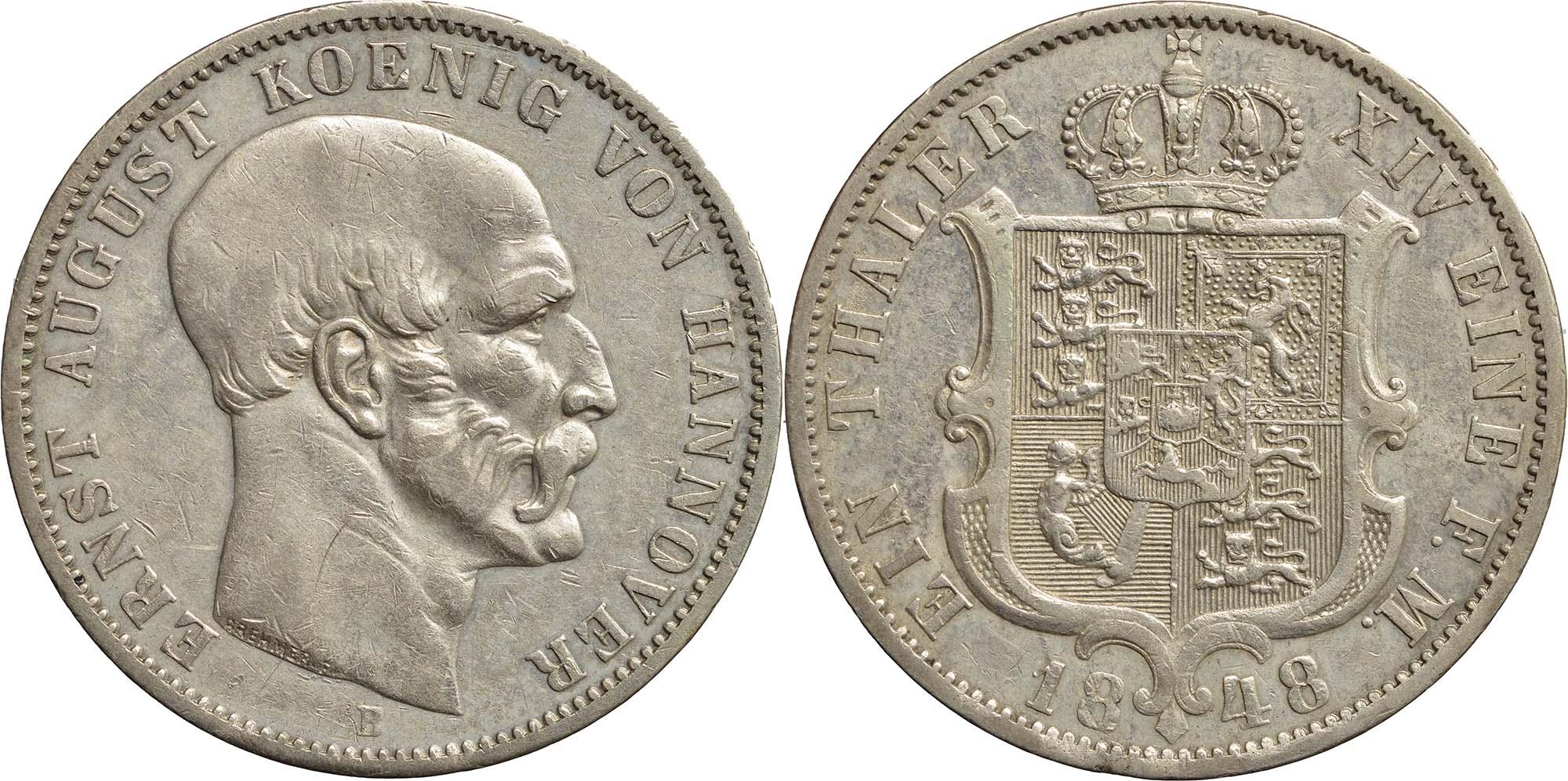 Lieferumfang:Deutschland : 1 Taler  winz. Rs. 1848 ss/vz.