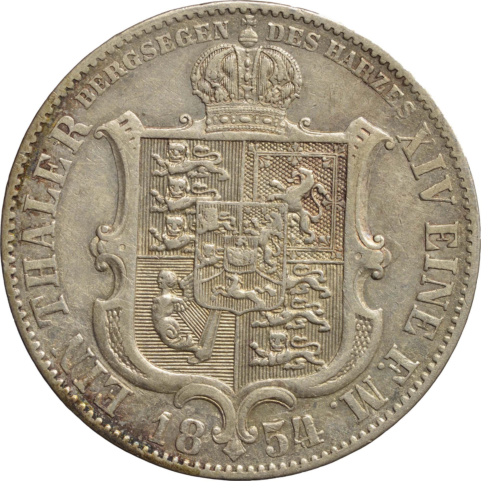 Rückseite:Deutschland : 1 Ausbeutetaler Georg V.  1854 ss.