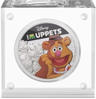 Lieferumfang:Niue : 2 Dollar Fozzie Bear - Ther Muppets #2   1 oz  2019 PP