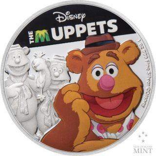 Vorderseite:Niue : 2 Dollar Fozzie Bear - Ther Muppets #2   1 oz  2019 PP