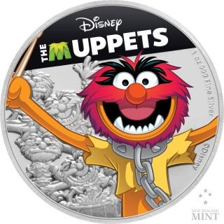 Vorderseite:Niue : 2 Dollar Animal - The Muppets #4   1 oz  2019 PP