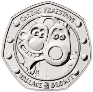 Vorderseite:Großbritannien : 50 Pc Wallace and Gromit - Blister  2019 Stgl.