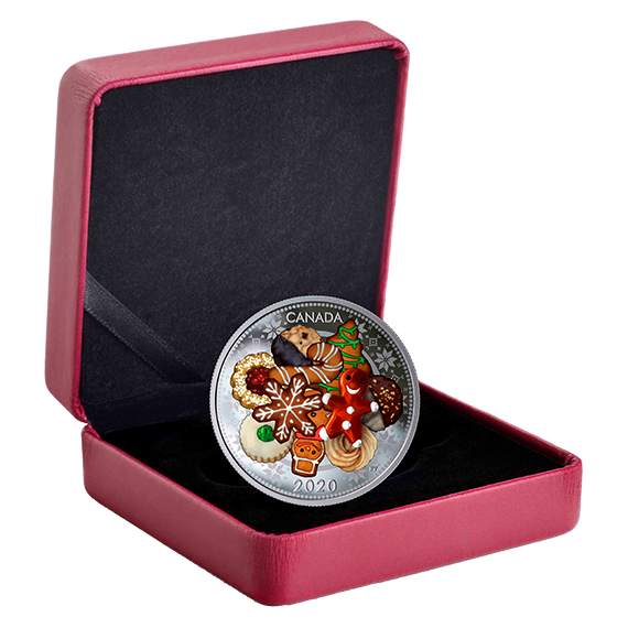 Lieferumfang:Kanada : 20 Dollar Weihnachtskekse - mit Muranoglas - farbig  2020 PP