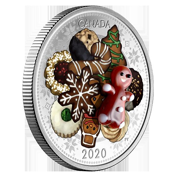 Vorderseite:Kanada : 20 Dollar Weihnachtskekse - mit Muranoglas - farbig  2020 PP