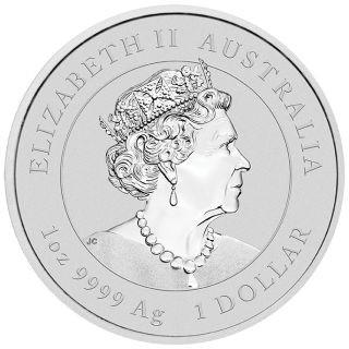 Rückseite:Australien : 1 Dollar Jahr der Maus - vergoldet, im Etui  2020 Stgl.