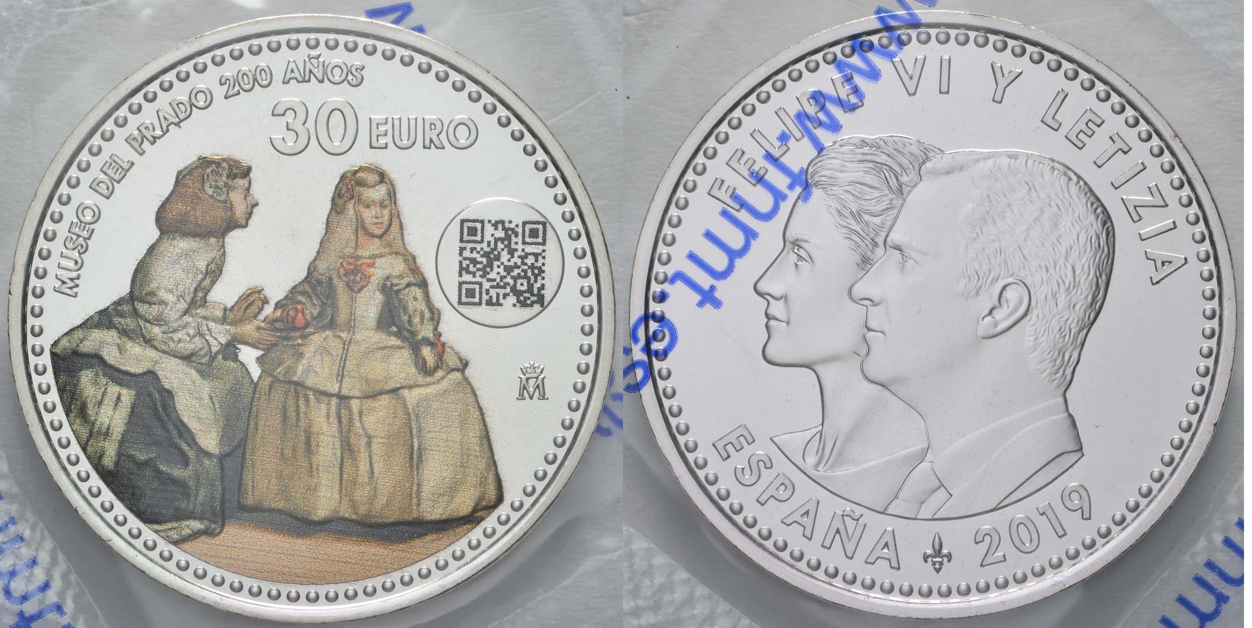 Lieferumfang:Spanien : 30 Euro 200 Jahre Prado Museum  2019 bfr
