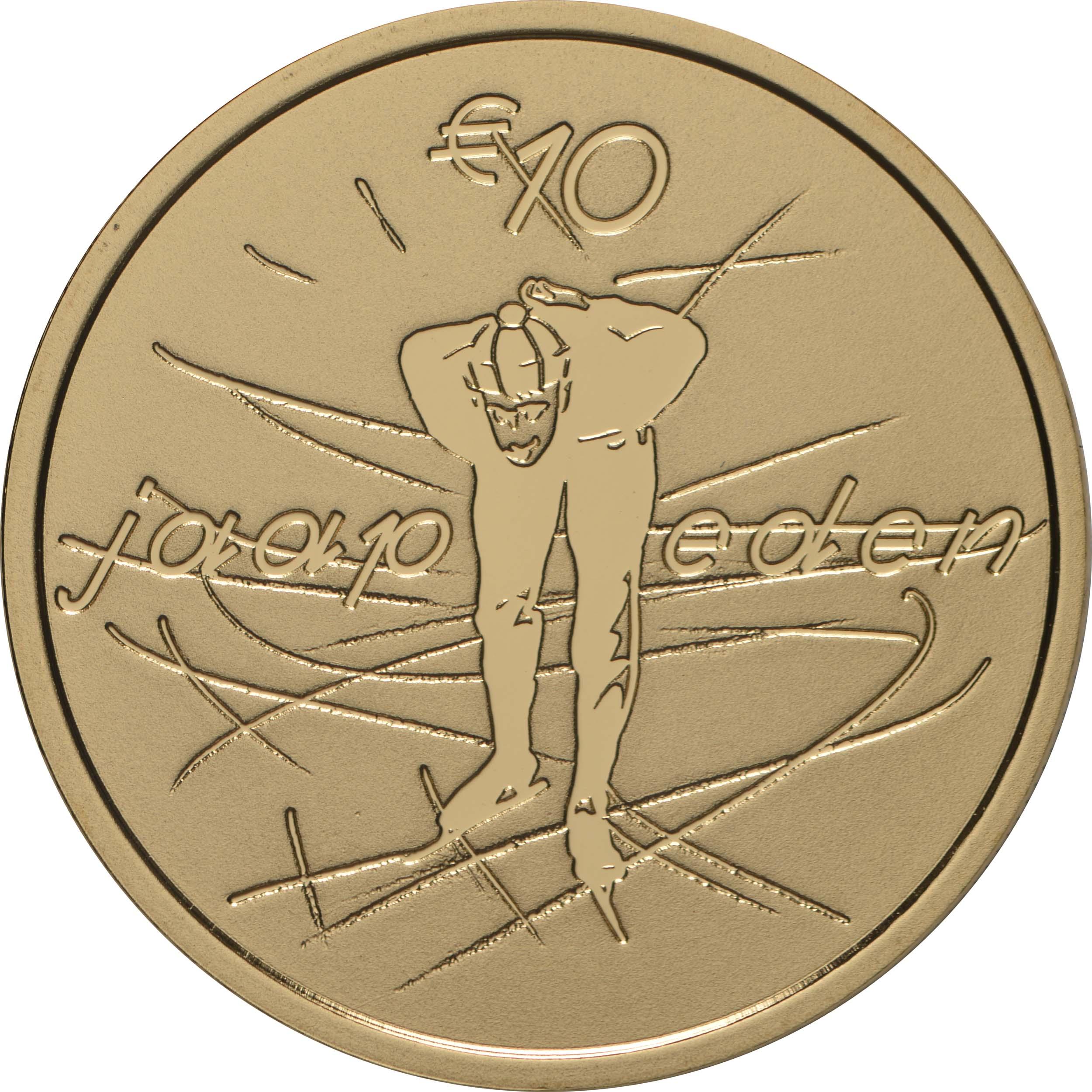 Rückseite:Niederlande : 10 Euro Jaap Eden  2019 PP