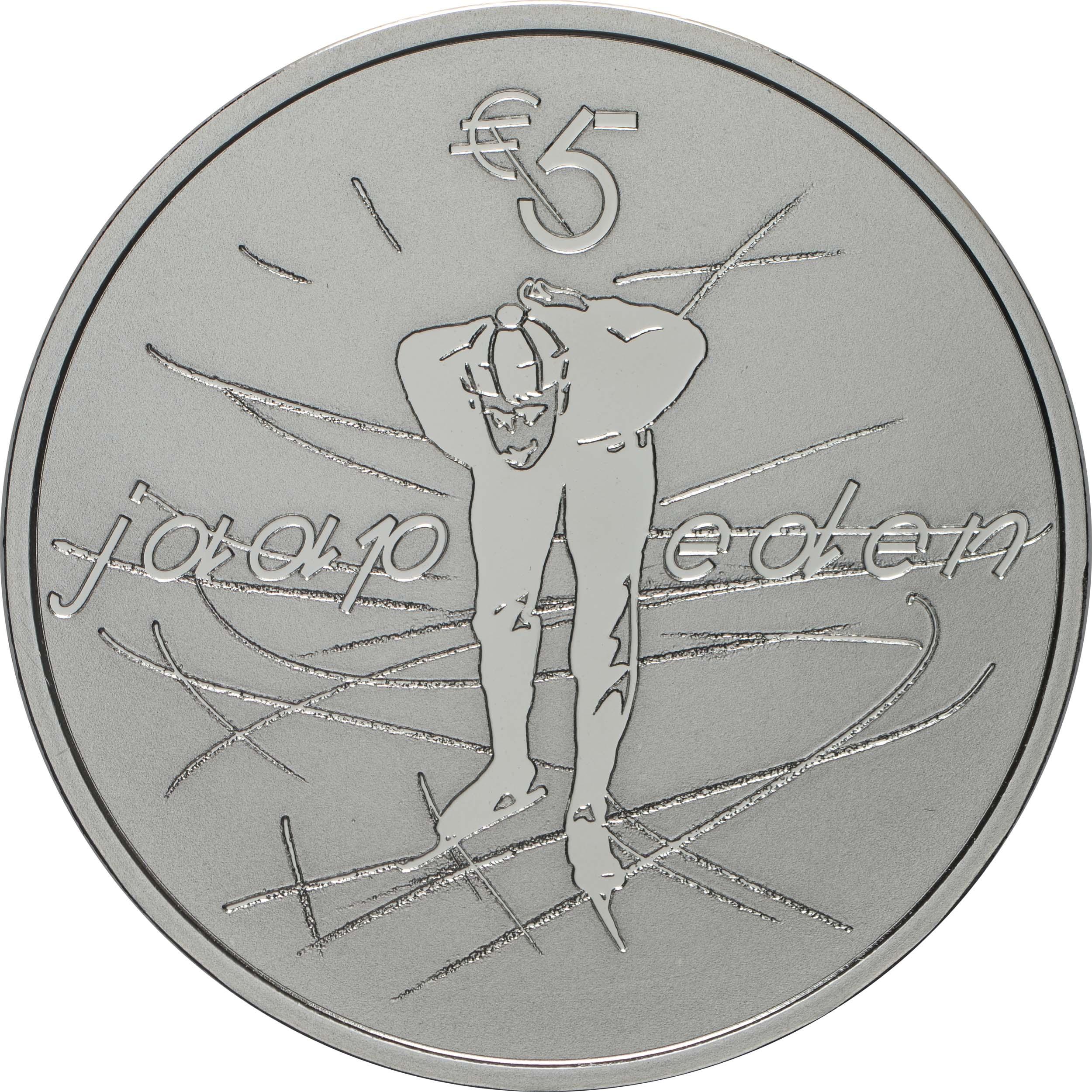 Rückseite:Niederlande : 5 Euro Jaap Eden  2019 PP