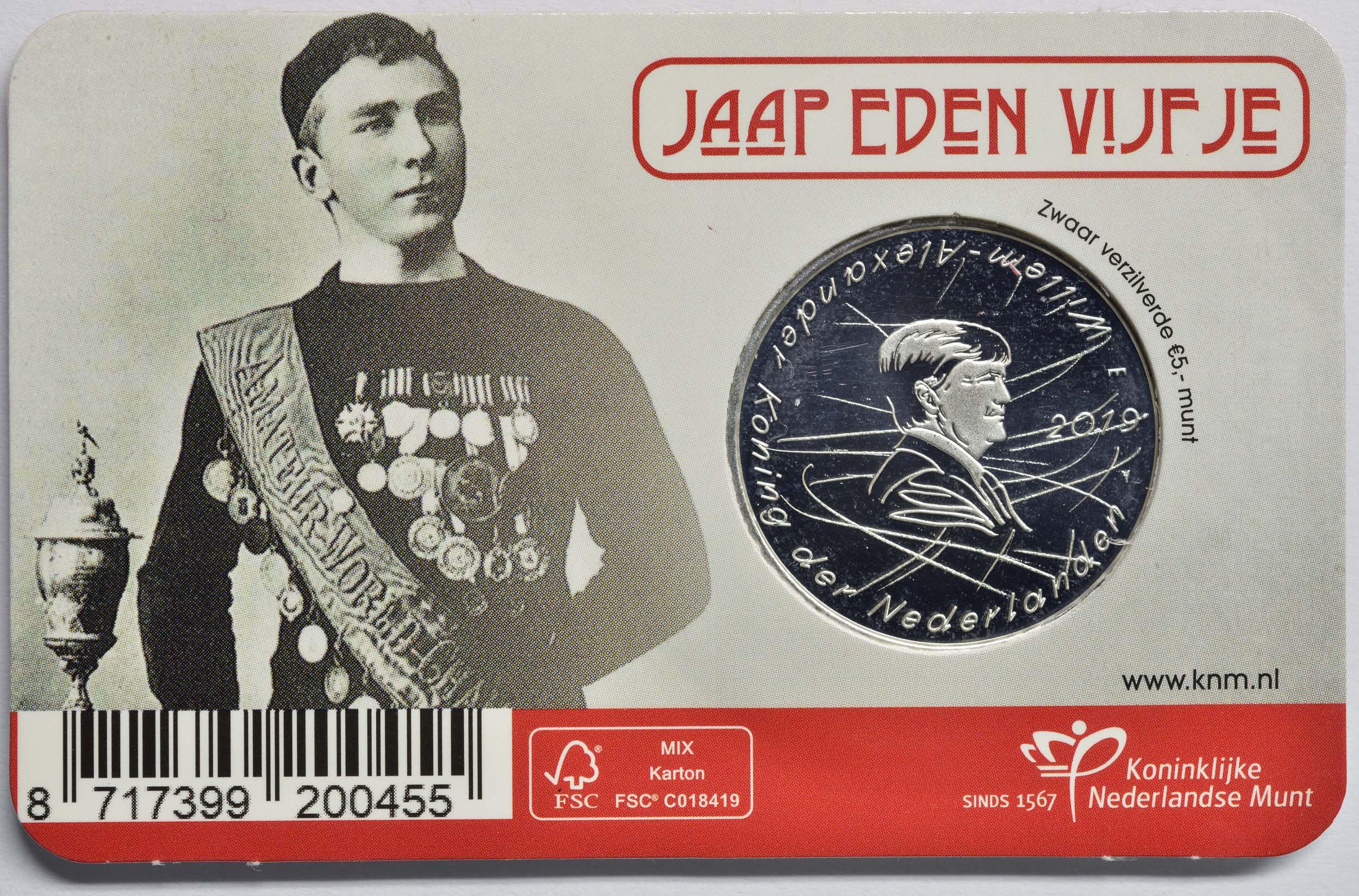 Zertifikat:Niederlande : 5 Euro Jaap Eden  2019 bfr