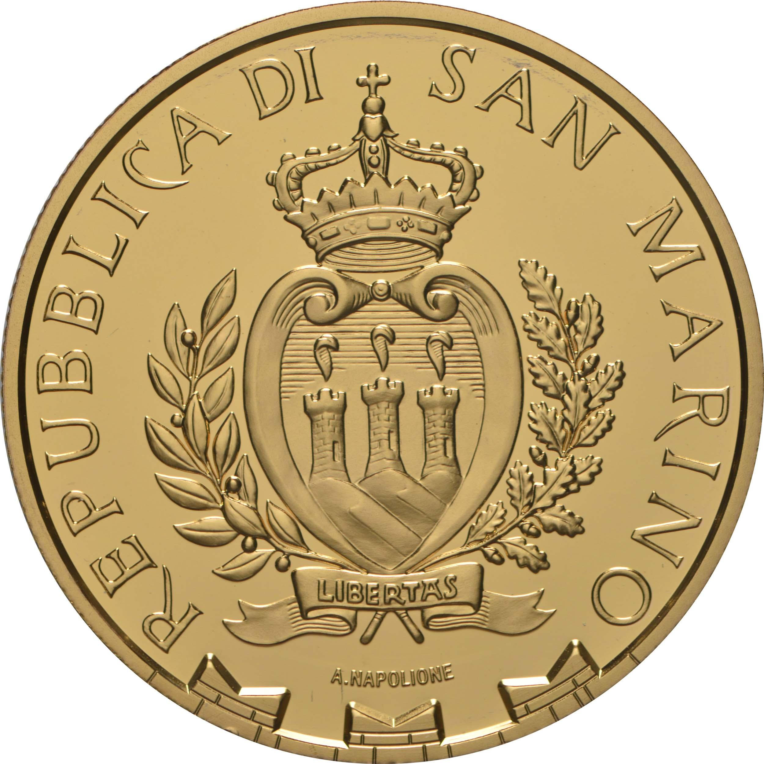 Rückseite:San Marino : 20 Euro 70 Jahre Europarat  2019 PP