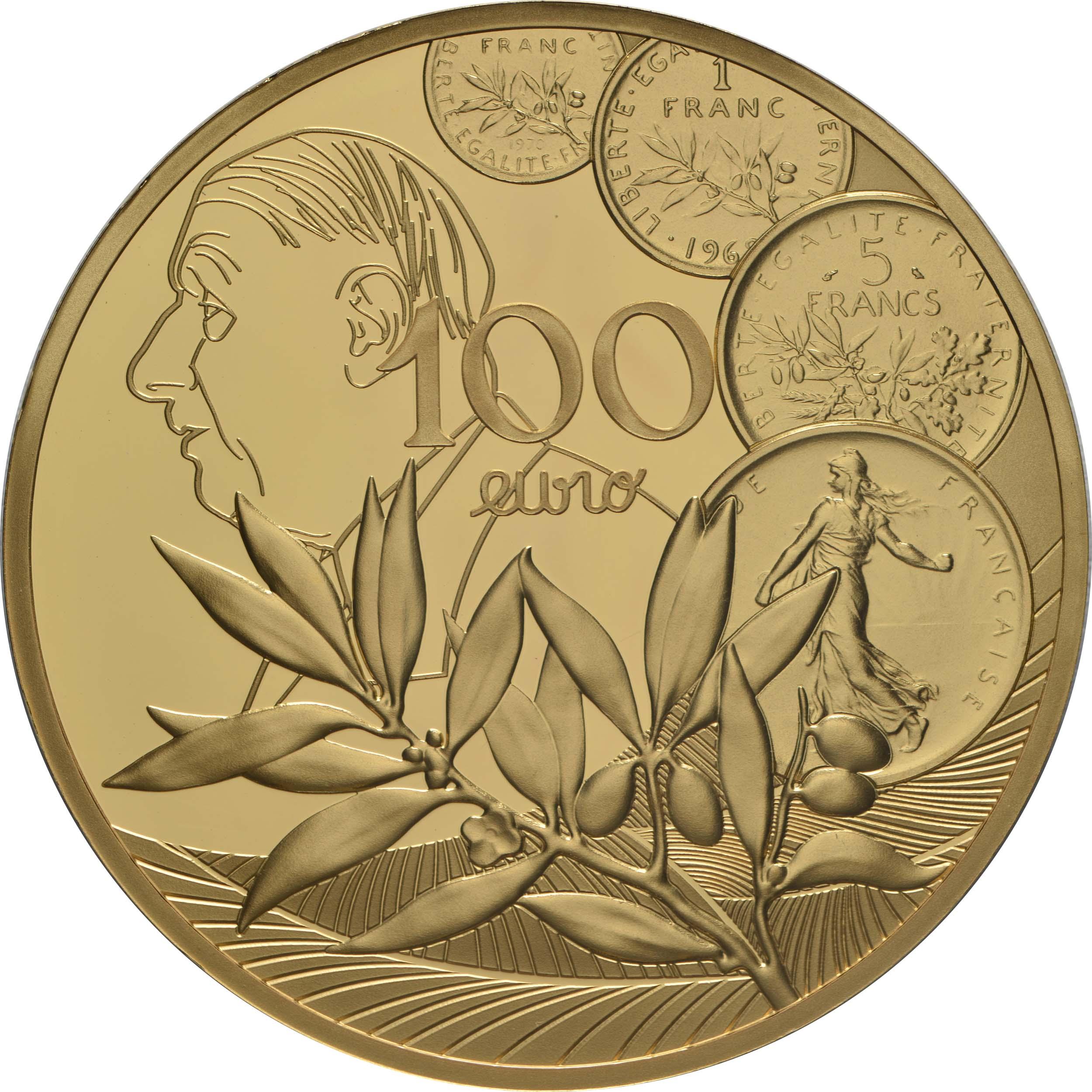 Vorderseite:Frankreich : 100 Euro 60 Jahre neuer Franc  2020 PP