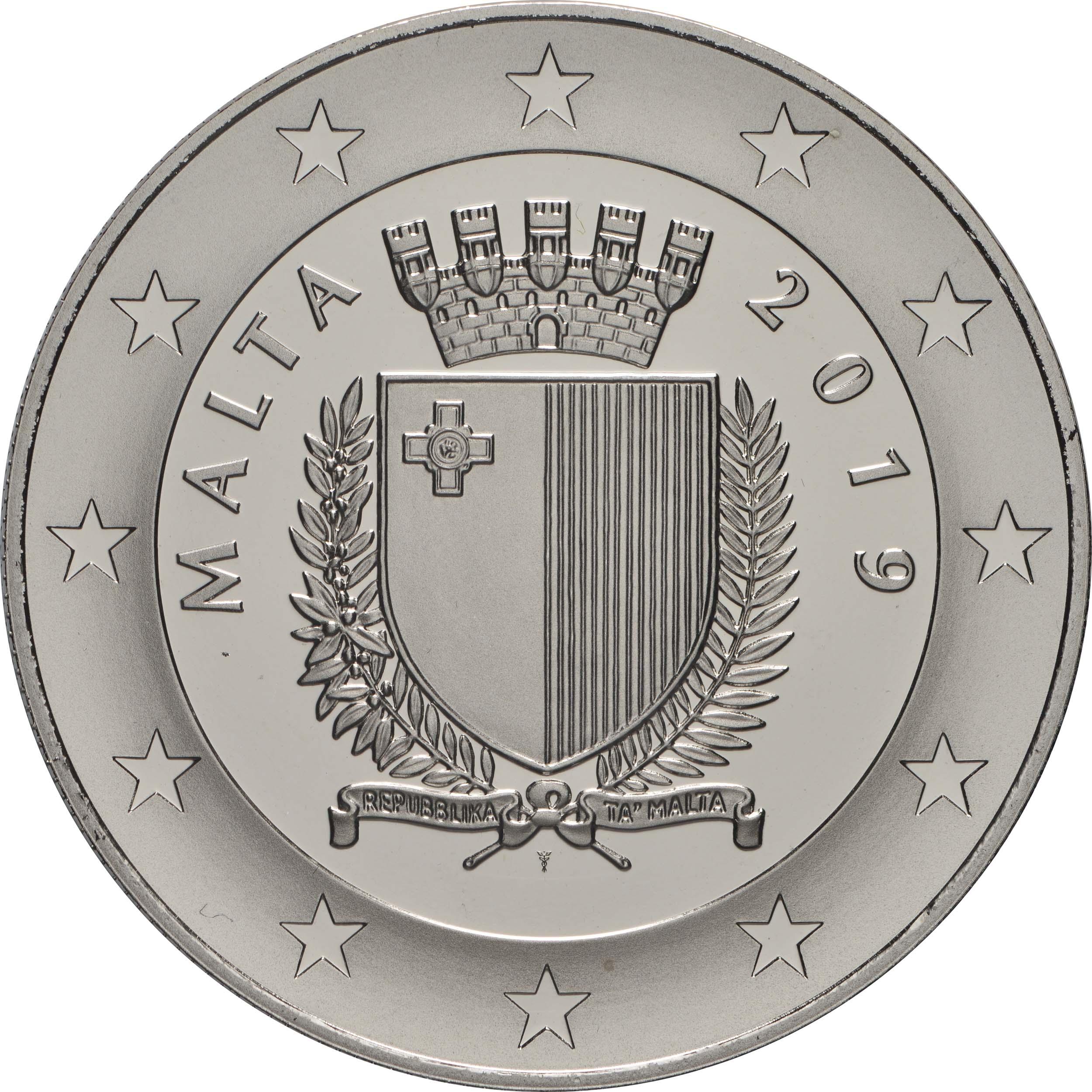 Rückseite:Malta : 5 Euro 250 Jahre Universität Malta  2019 PP