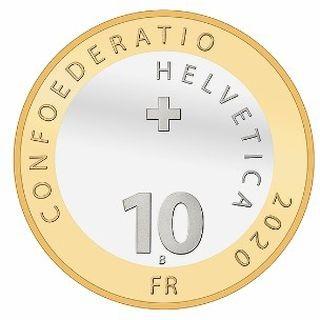 Rückseite:Schweiz : 18,85 sfr Jahresserie mit 10 sfr Hase  2020 PP