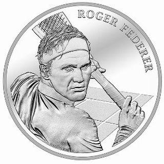 Vorderseite:Schweiz : 20 sfr Roger Federer  im Folder  2020 Stgl.