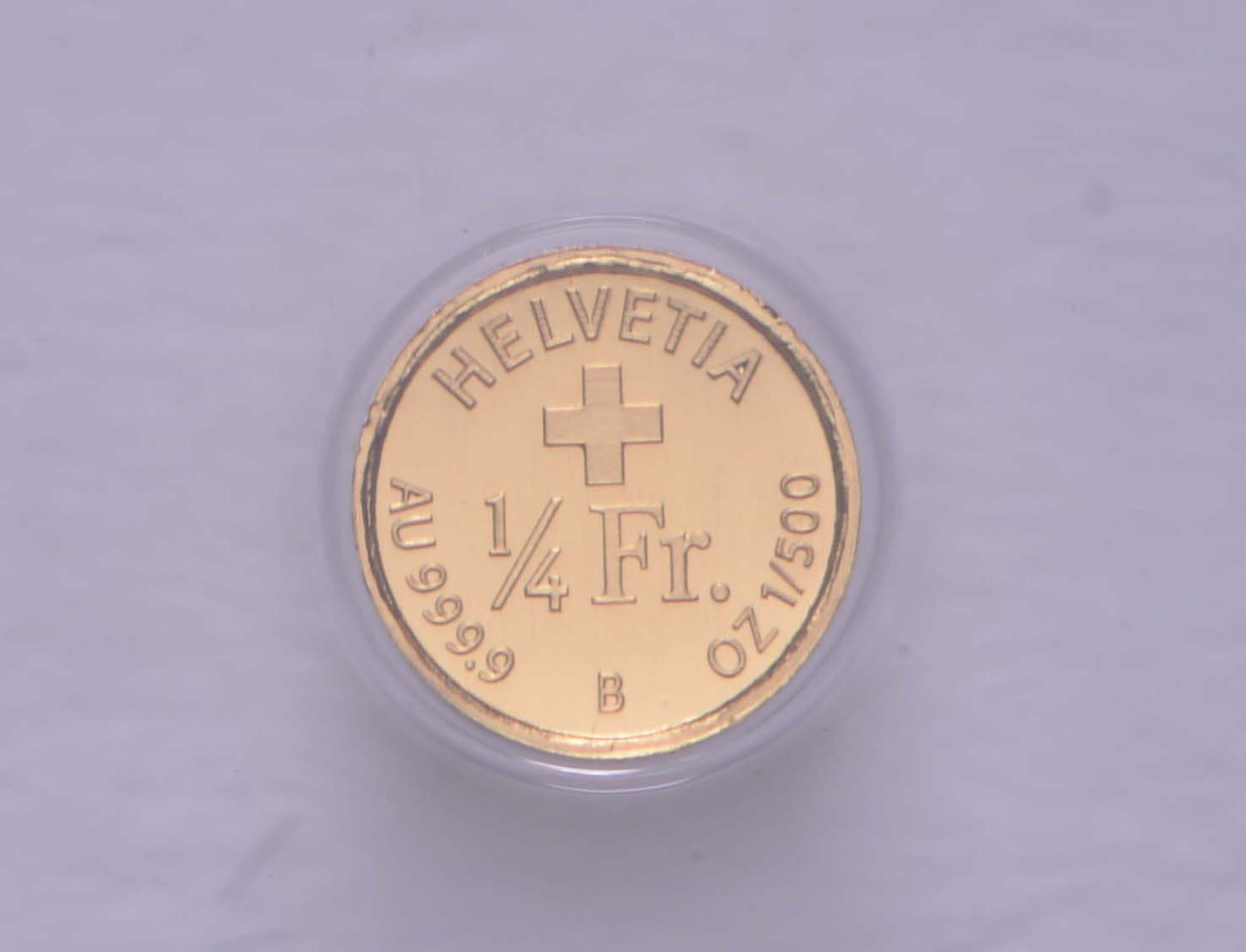 Rückseite:Schweiz : 1/4 Franken Einstein - kleinste Goldmünze der Welt  2020 PP