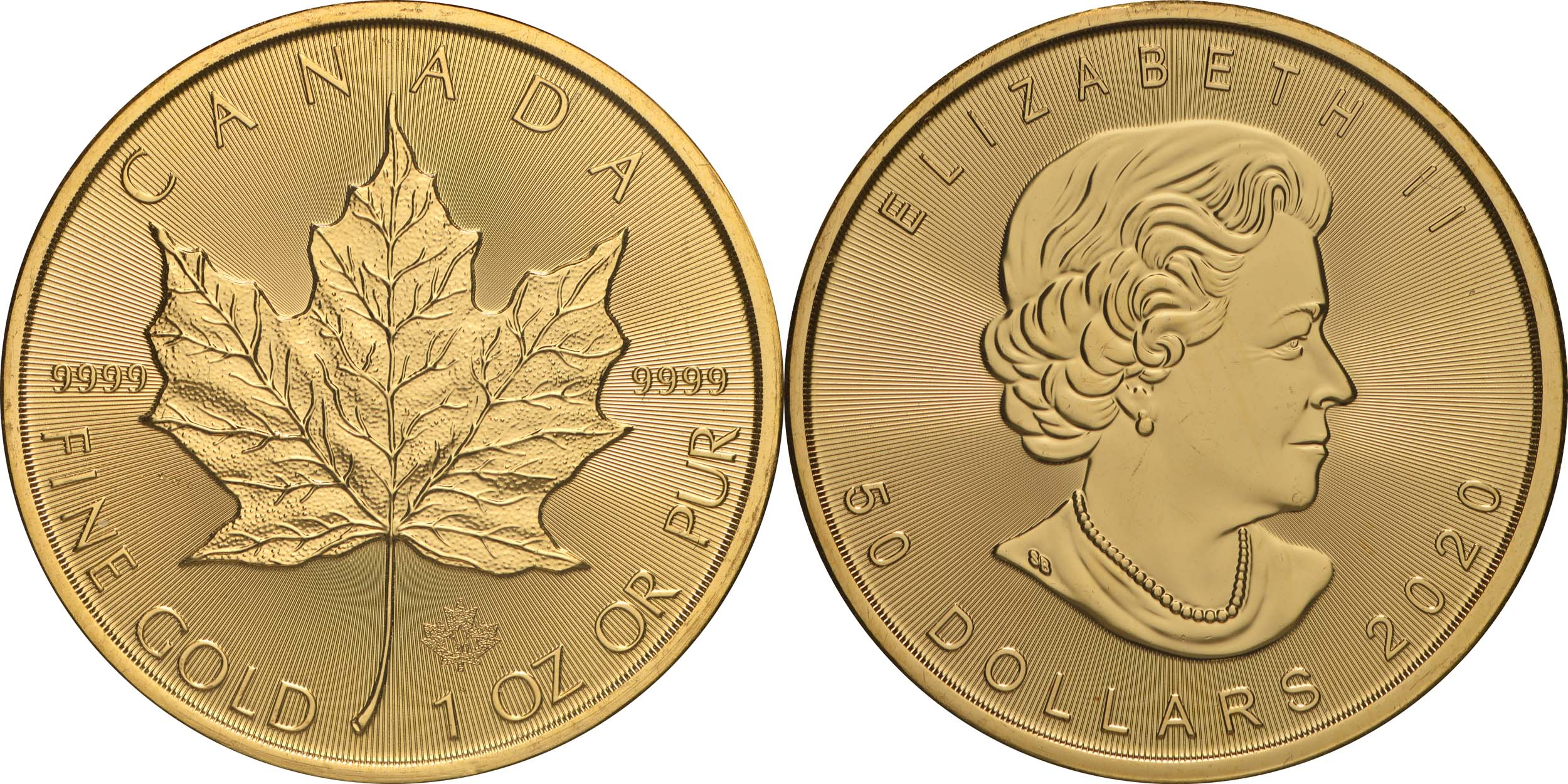 Lieferumfang:Kanada : 50 Dollar Maple Leaf 2020  1 oz  2020 Stgl.