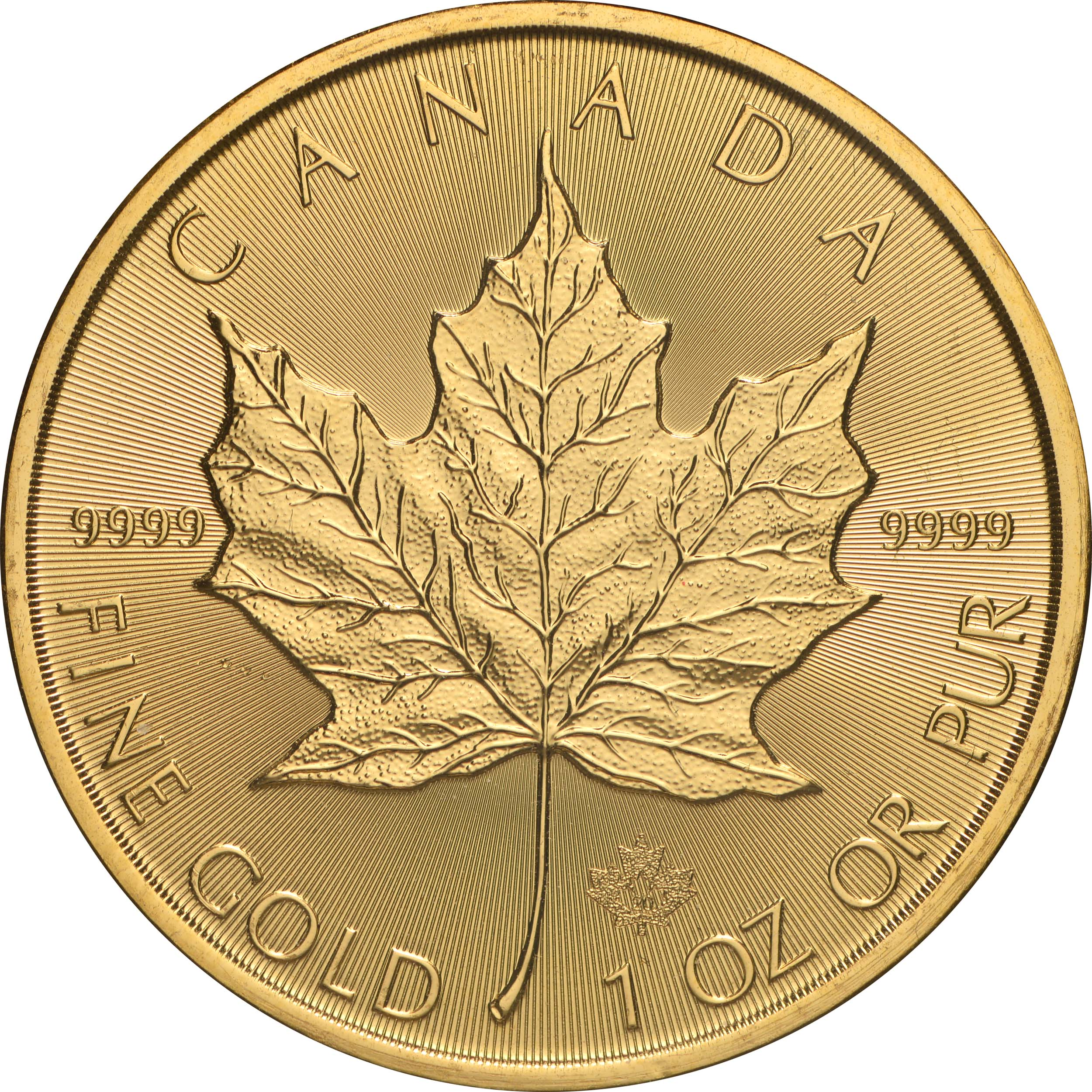 Vorderseite:Kanada : 50 Dollar Maple Leaf 2020  1 oz  2020 Stgl.