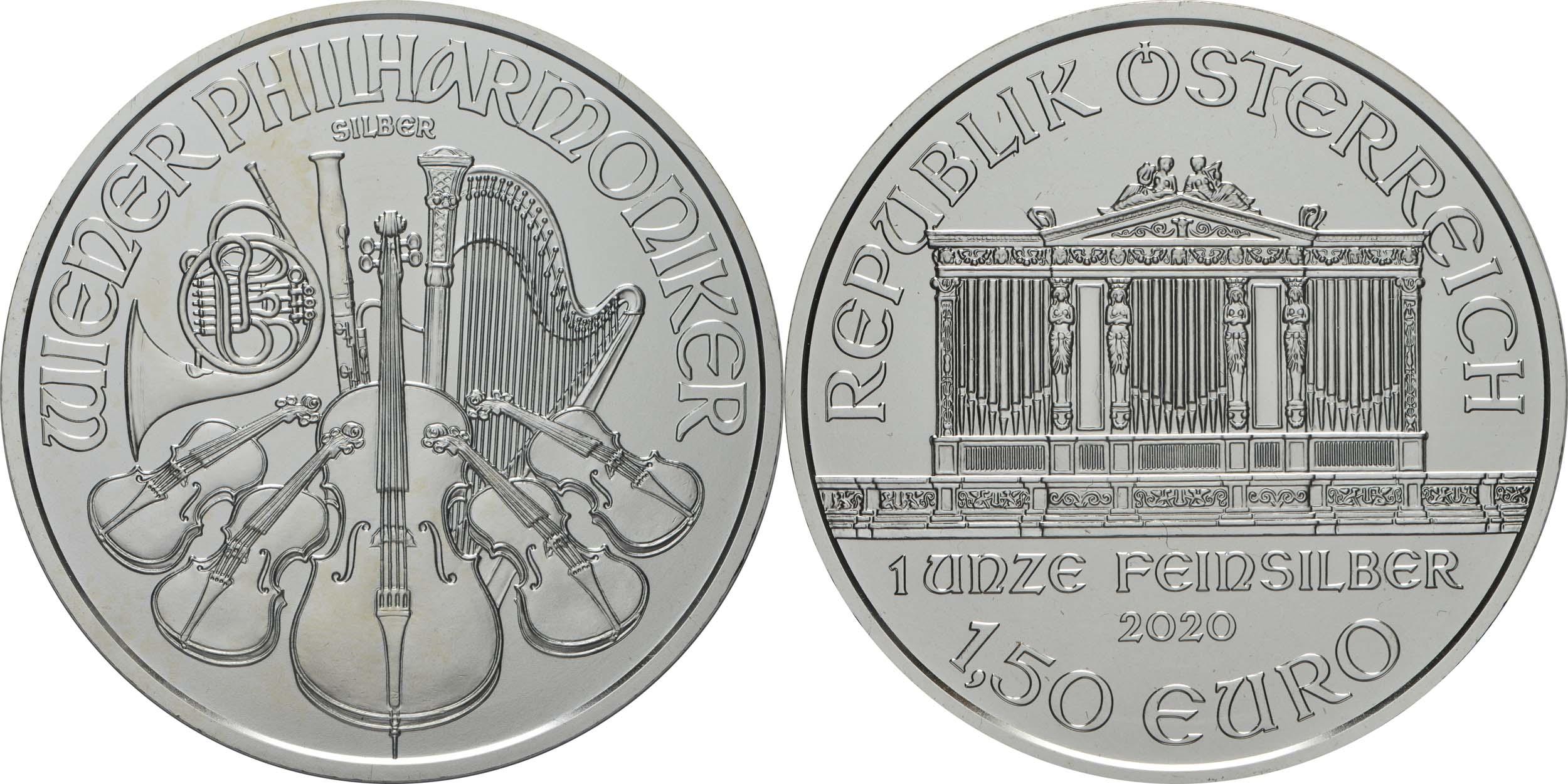 Lieferumfang:Österreich : 1,5 Euro Philharmoniker   2020 Stgl.