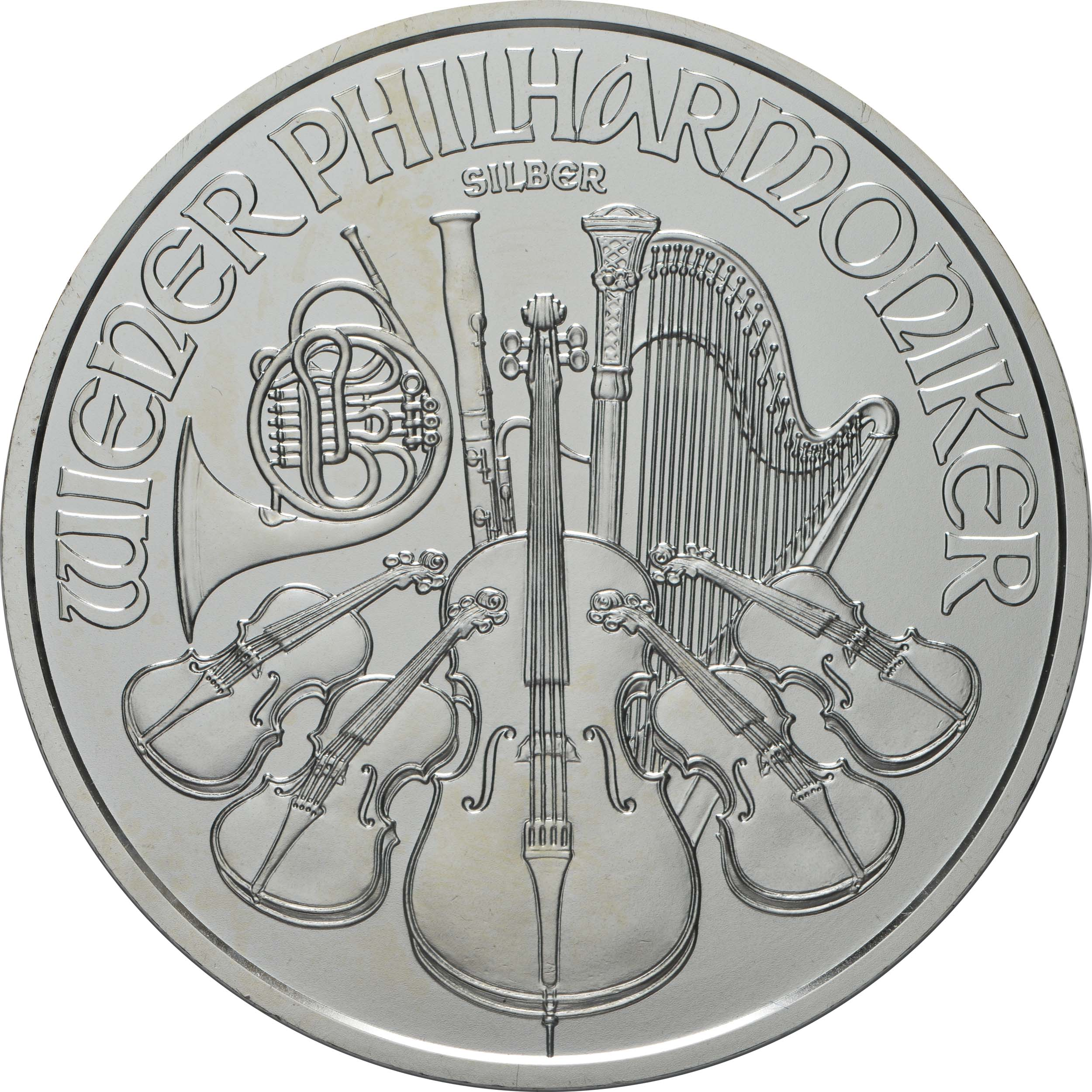 Vorderseite:Österreich : 1,5 Euro Philharmoniker   2020 Stgl.