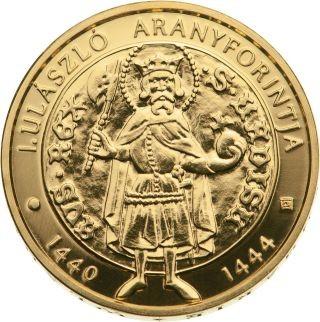 Vorderseite:Ungarn : 5000 Forint Goldflorin von Vladislaus I.  2020 Stgl.