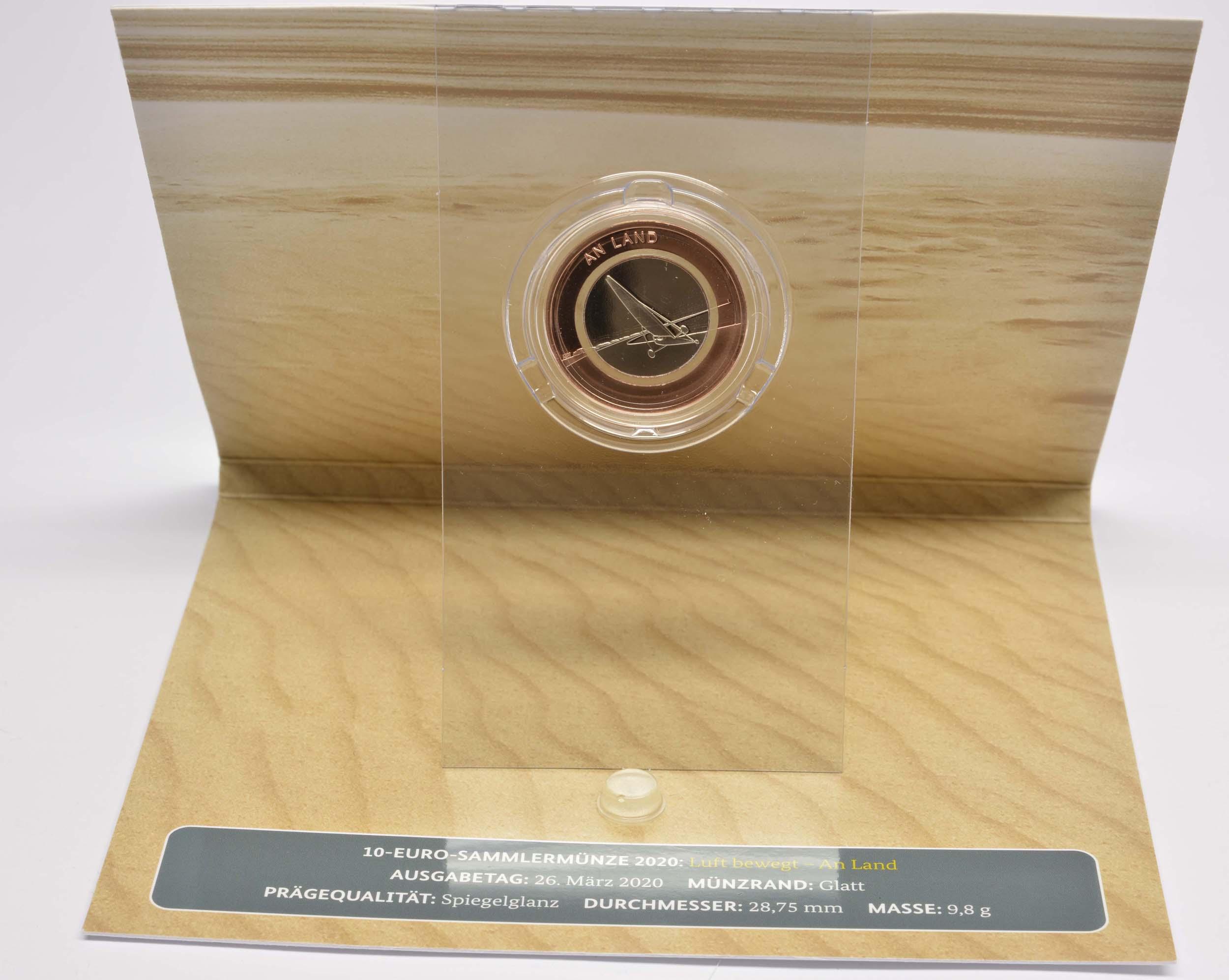 Zertifikat:Deutschland : 10 Euro An Land  Komplettsatz 5 Münzen ADFGJ  2020 PP