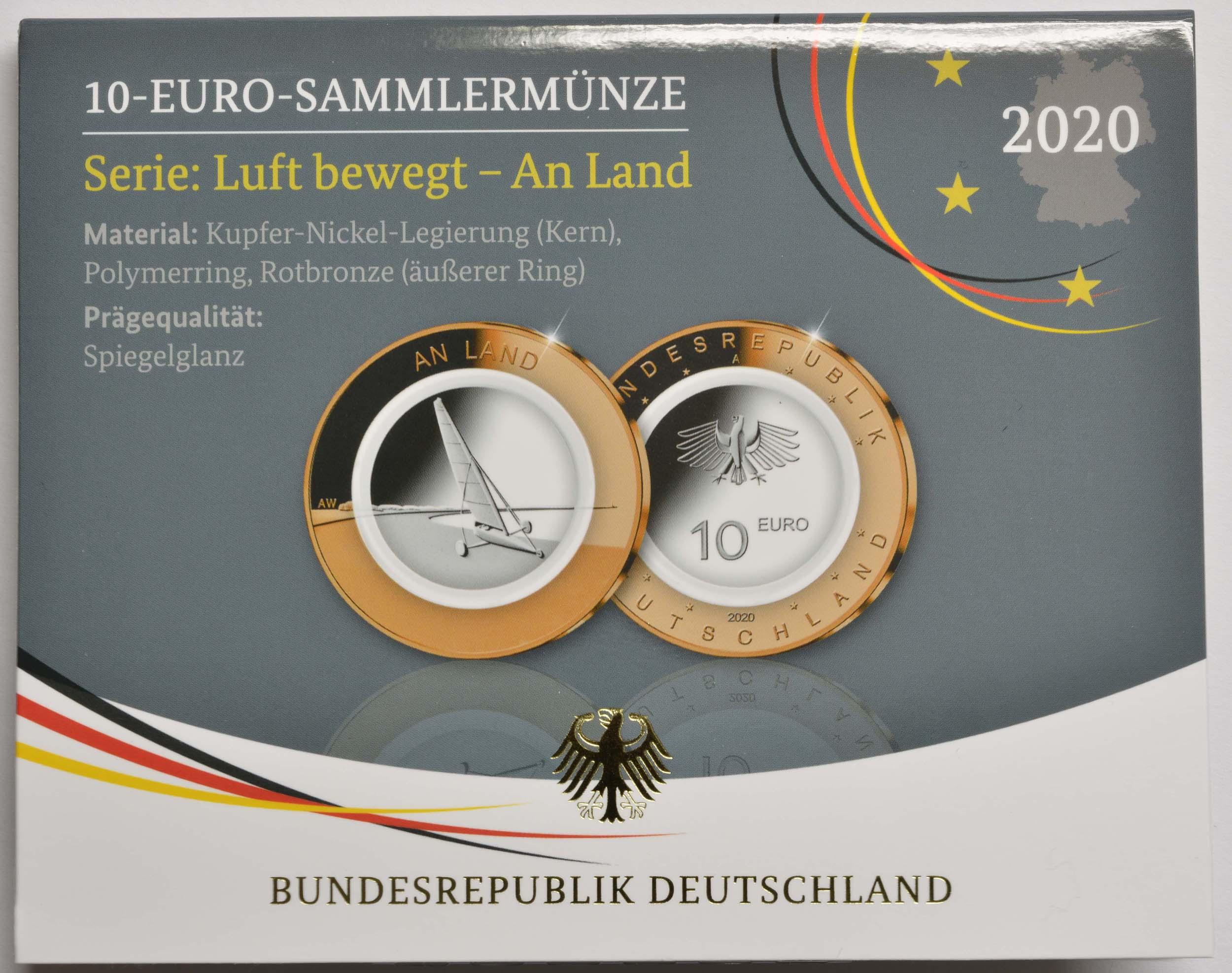 Lieferumfang:Deutschland : 10 Euro An Land Buchstabe unserer Wahl  2020 PP