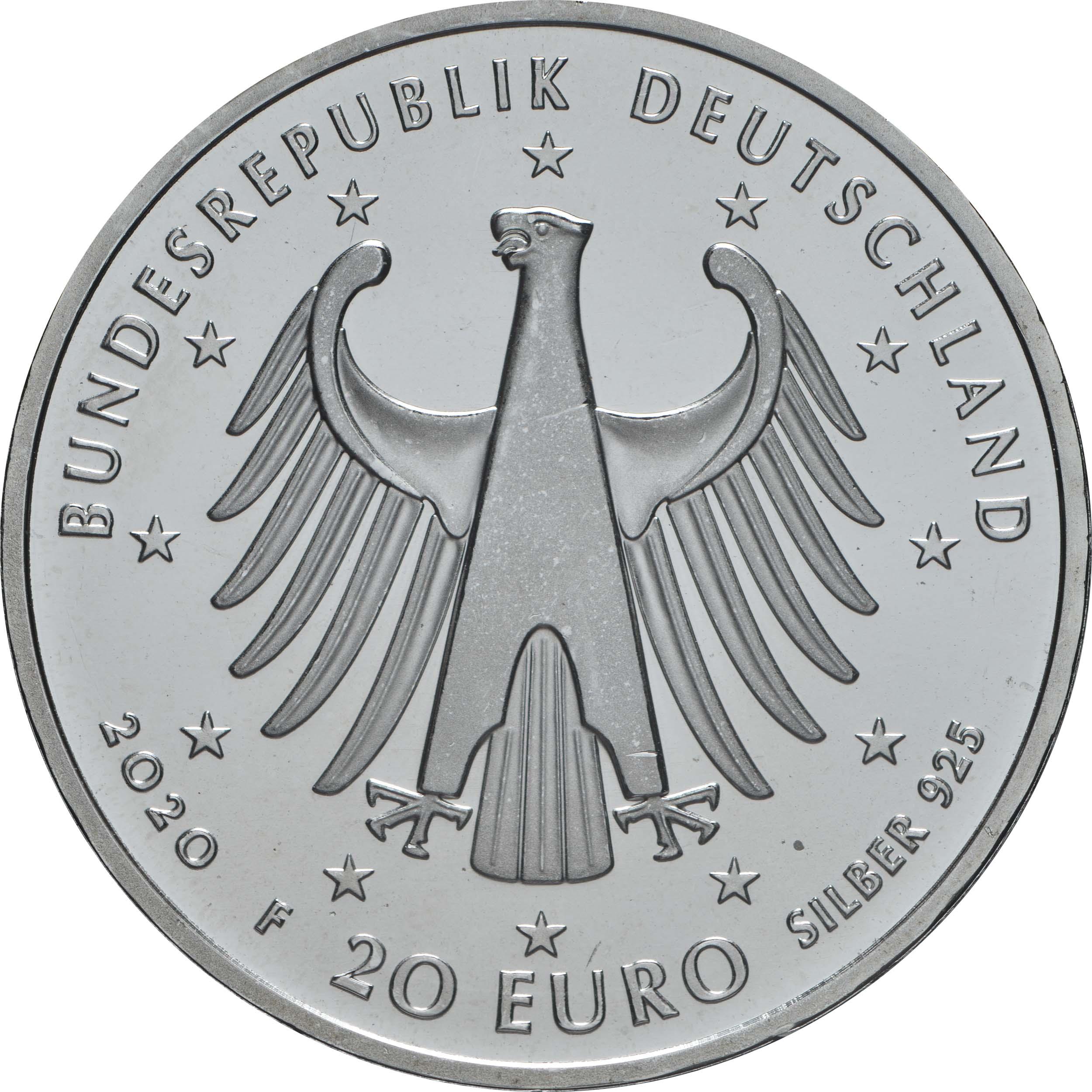 Rückseite:Deutschland : 20 Euro 250. Geburtstag Ludwig van Beethoven  2020 bfr