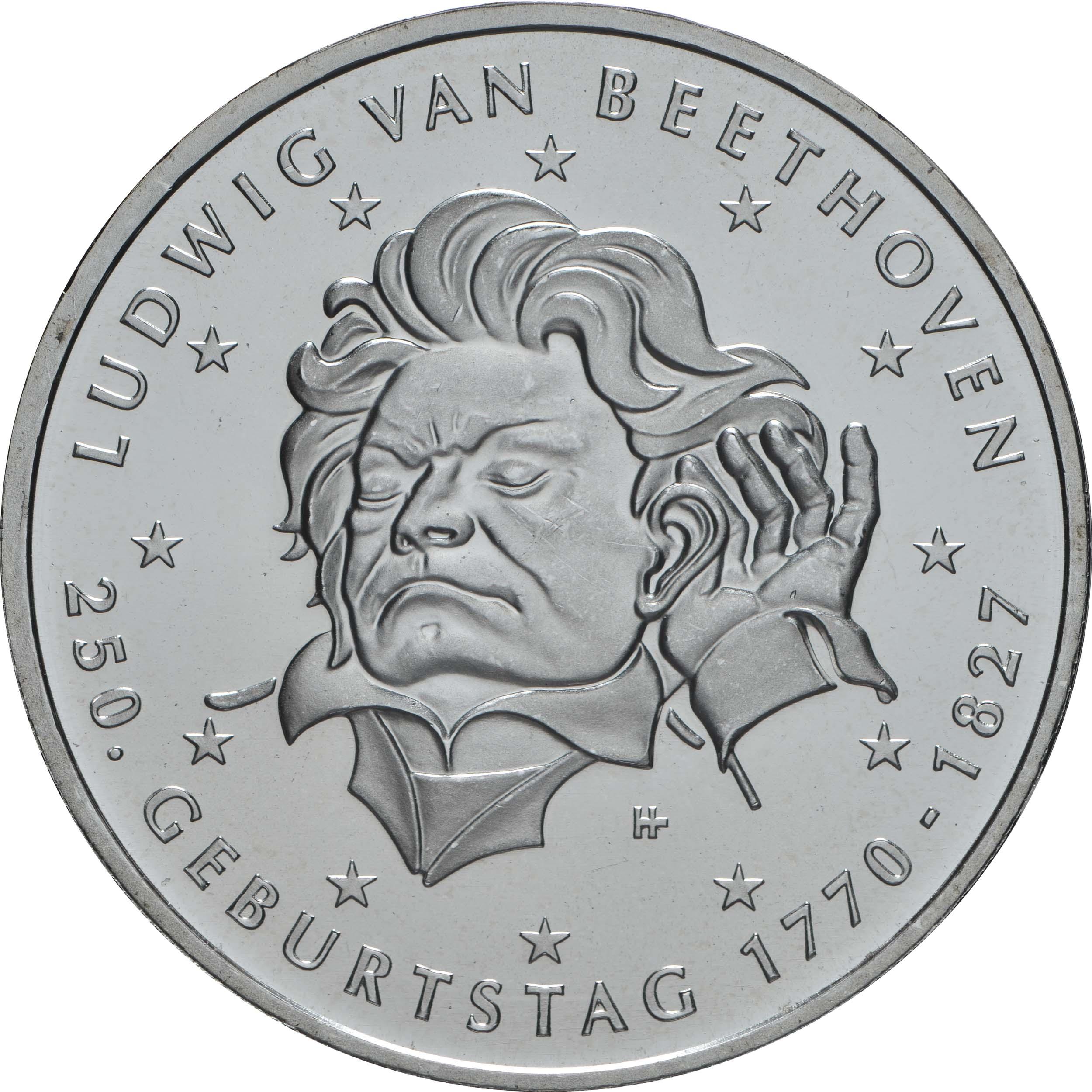 Vorderseite:Deutschland : 20 Euro 250. Geburtstag Ludwig van Beethoven  2020 bfr