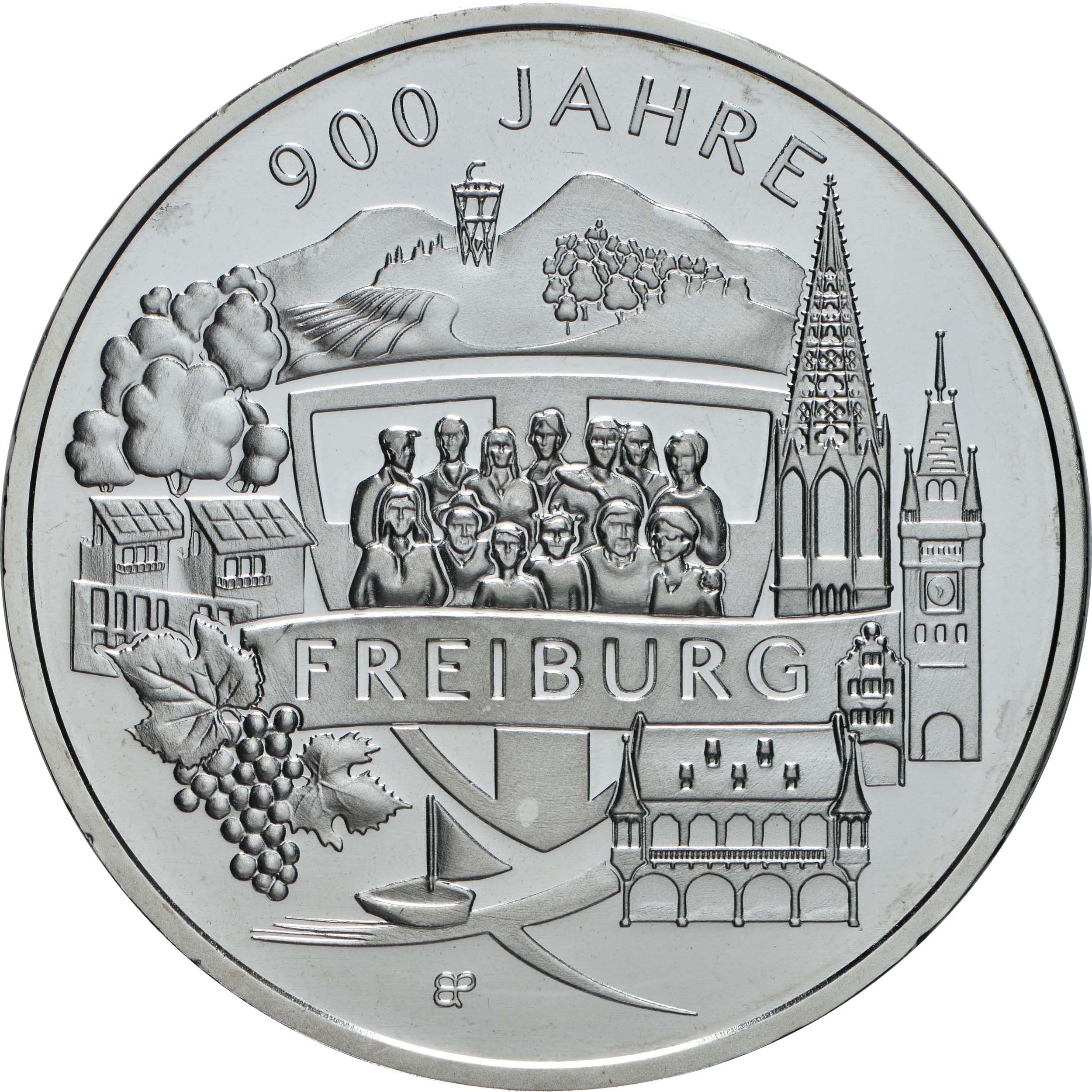 Vorderseite:Deutschland : 20 Euro 900 Jahre Freiburg  2020 bfr