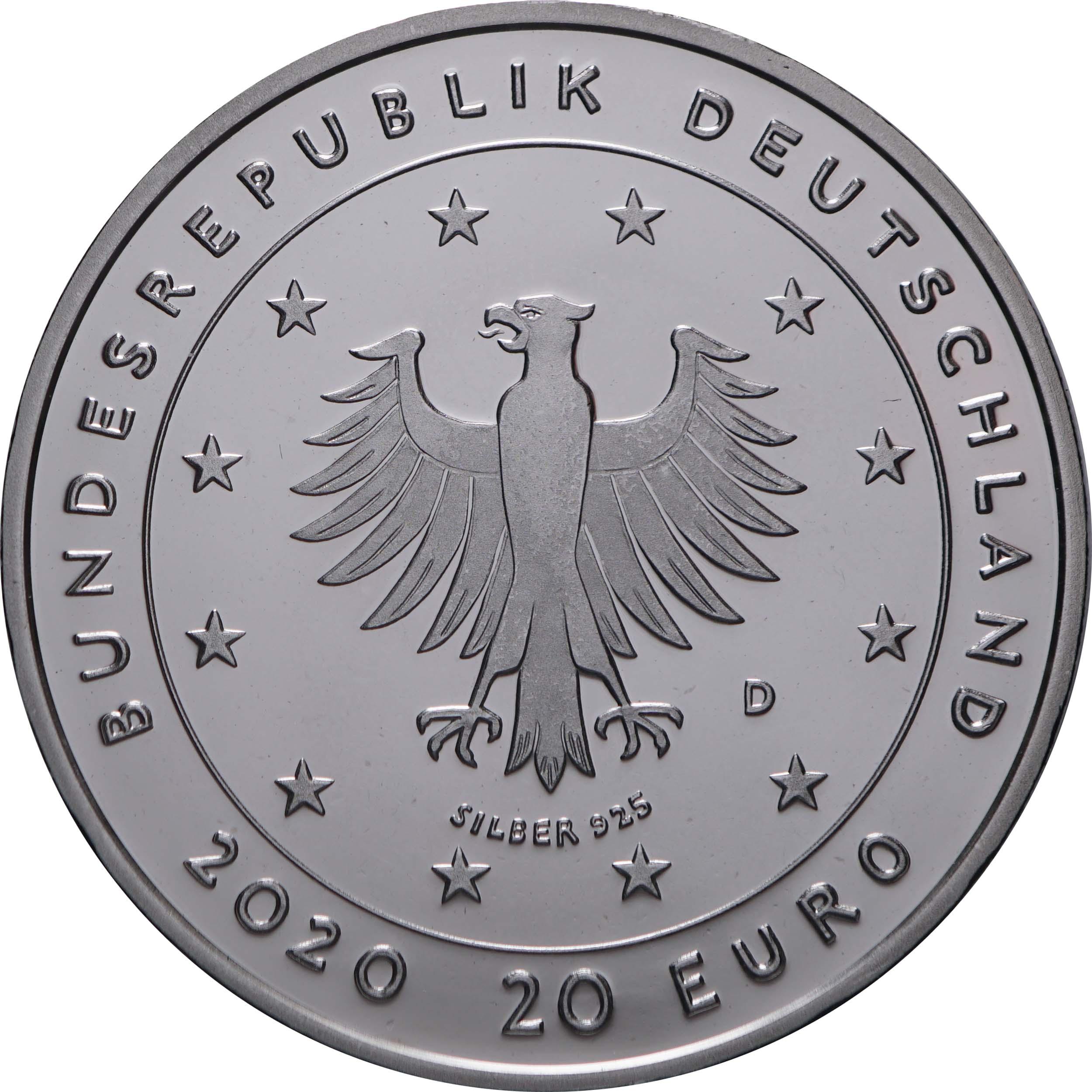 Rückseite:Deutschland : 20 Euro Der Wolf und die sieben Geißlein  2020 PP