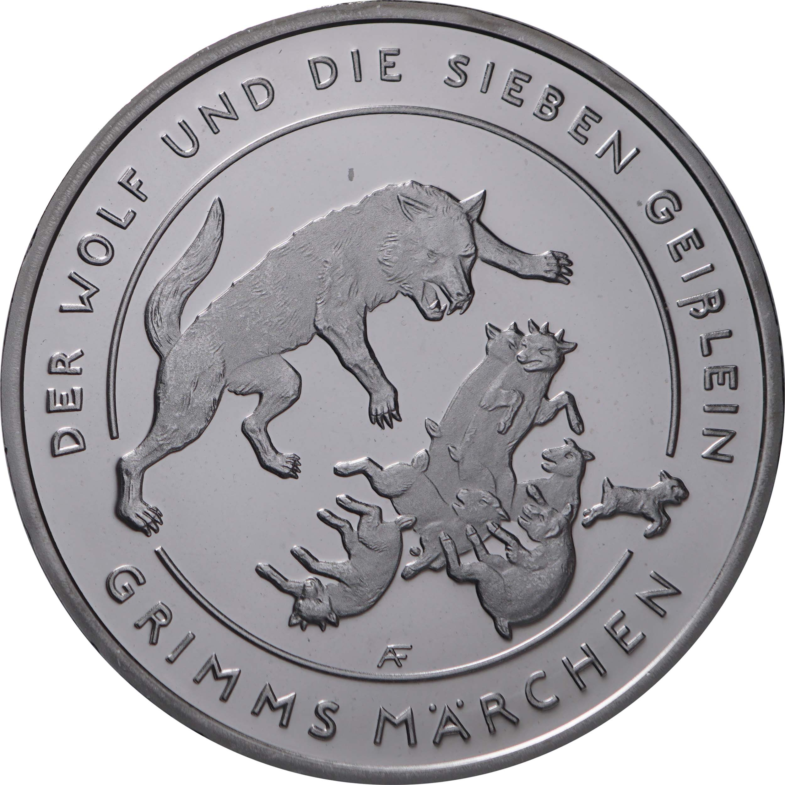 Vorderseite:Deutschland : 20 Euro Der Wolf und die sieben Geißlein  2020 PP