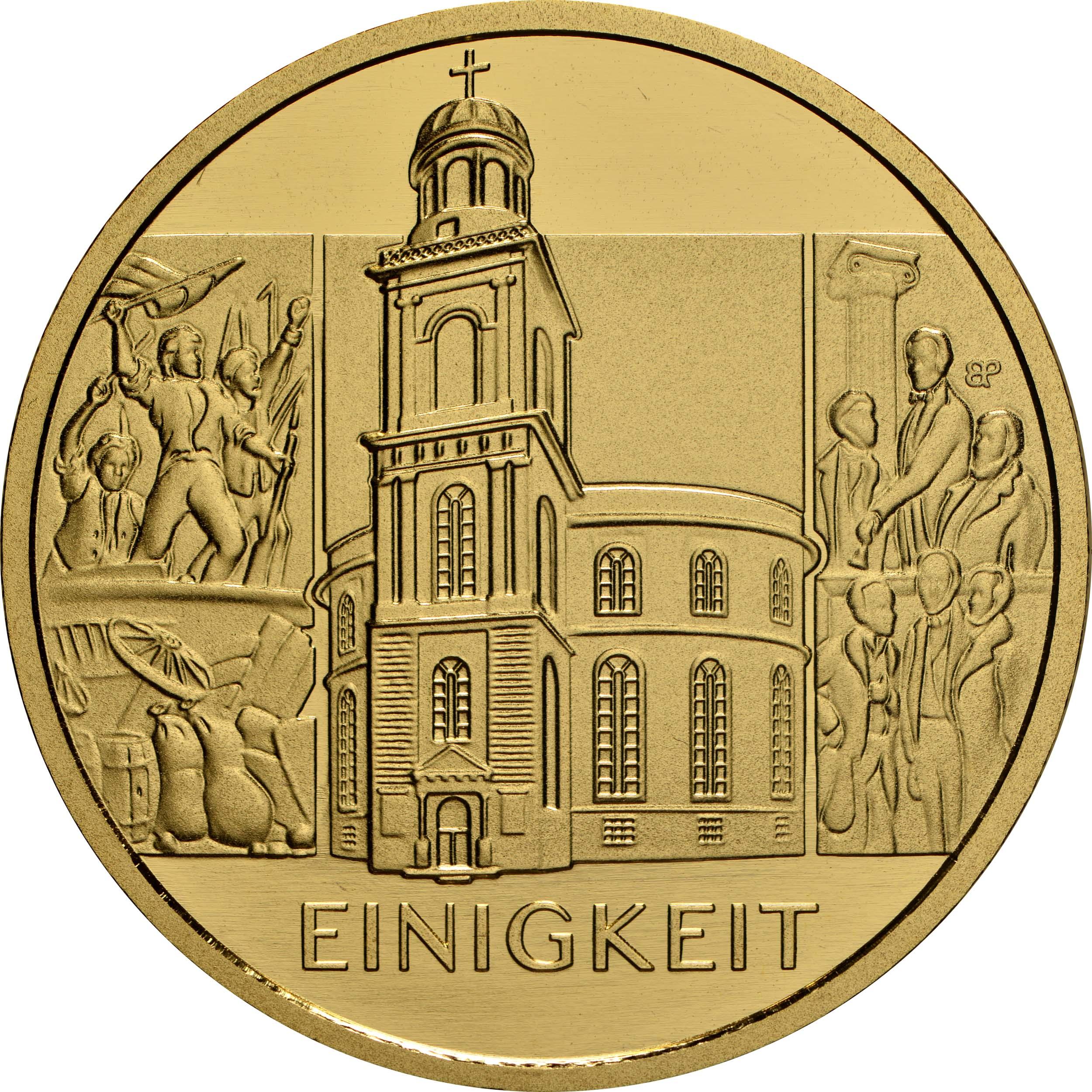 Vorderseite:Deutschland : 100 Euro Einigkeit  2020 Stgl.