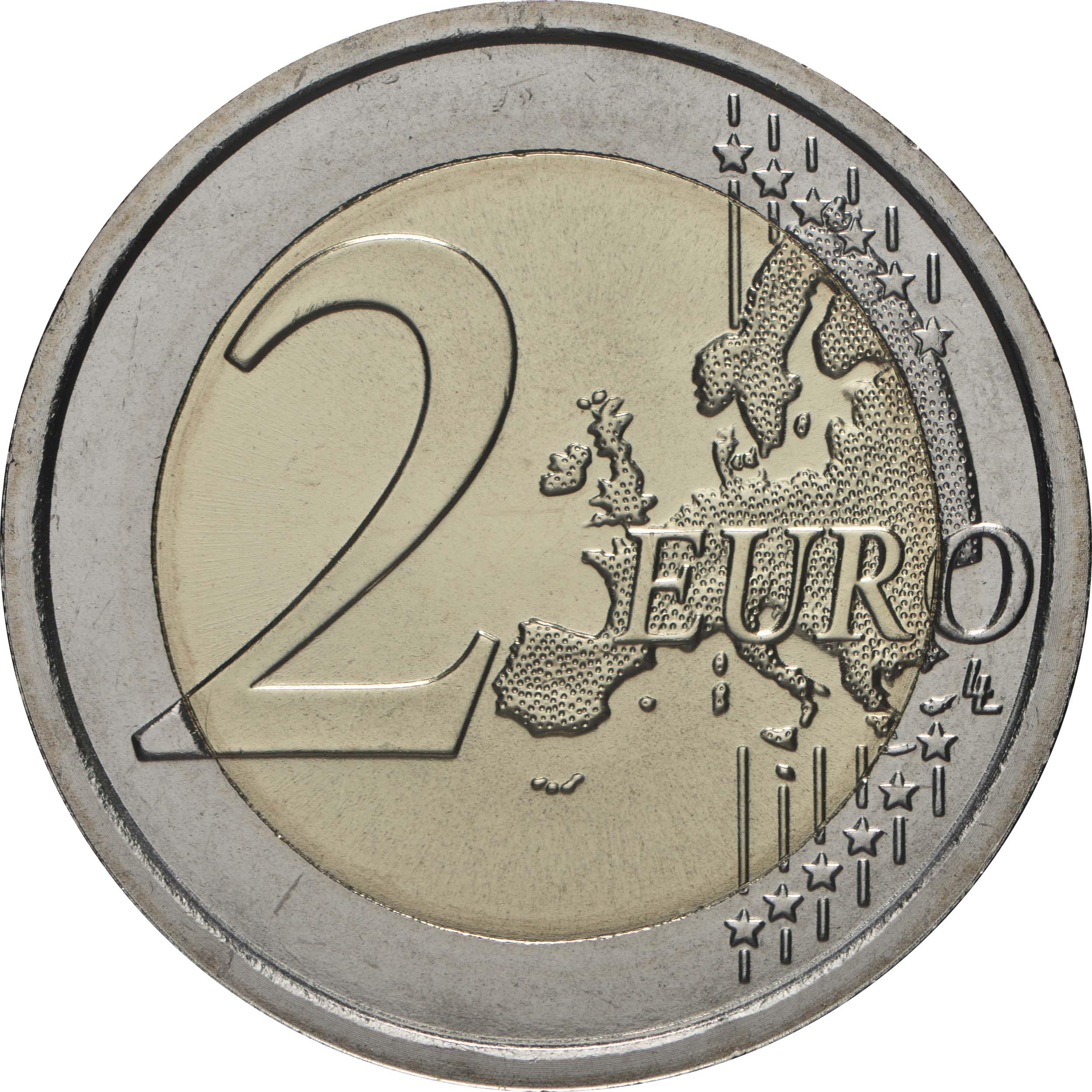 Vorderseite:Italien : 2 Euro 80. Jahrestag der Gründung des Nationalen Feuerwehrkorps  2020 bfr