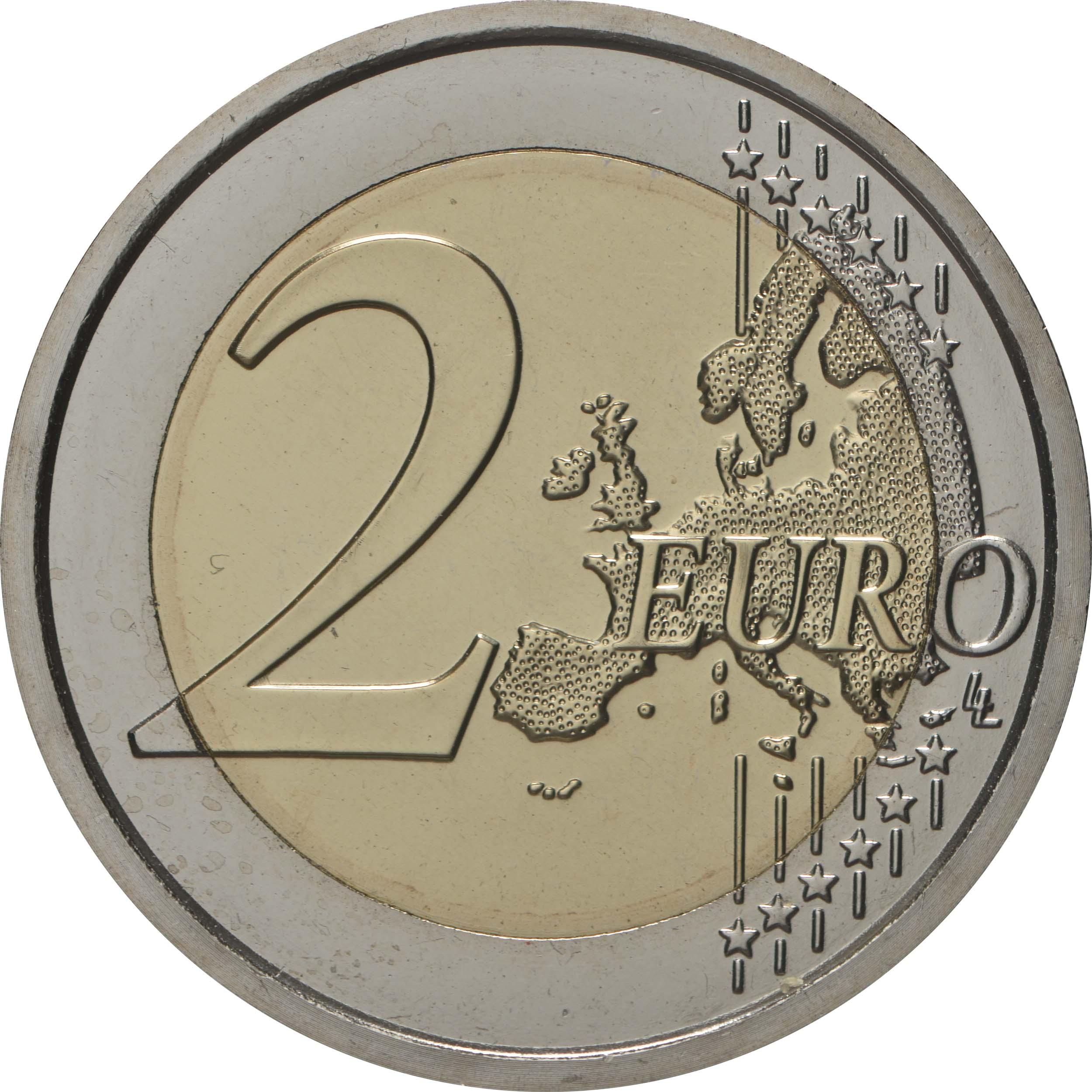 Vorderseite:Italien : 2 Euro 150. Geburtstag von Maria Montessori  2020 bfr
