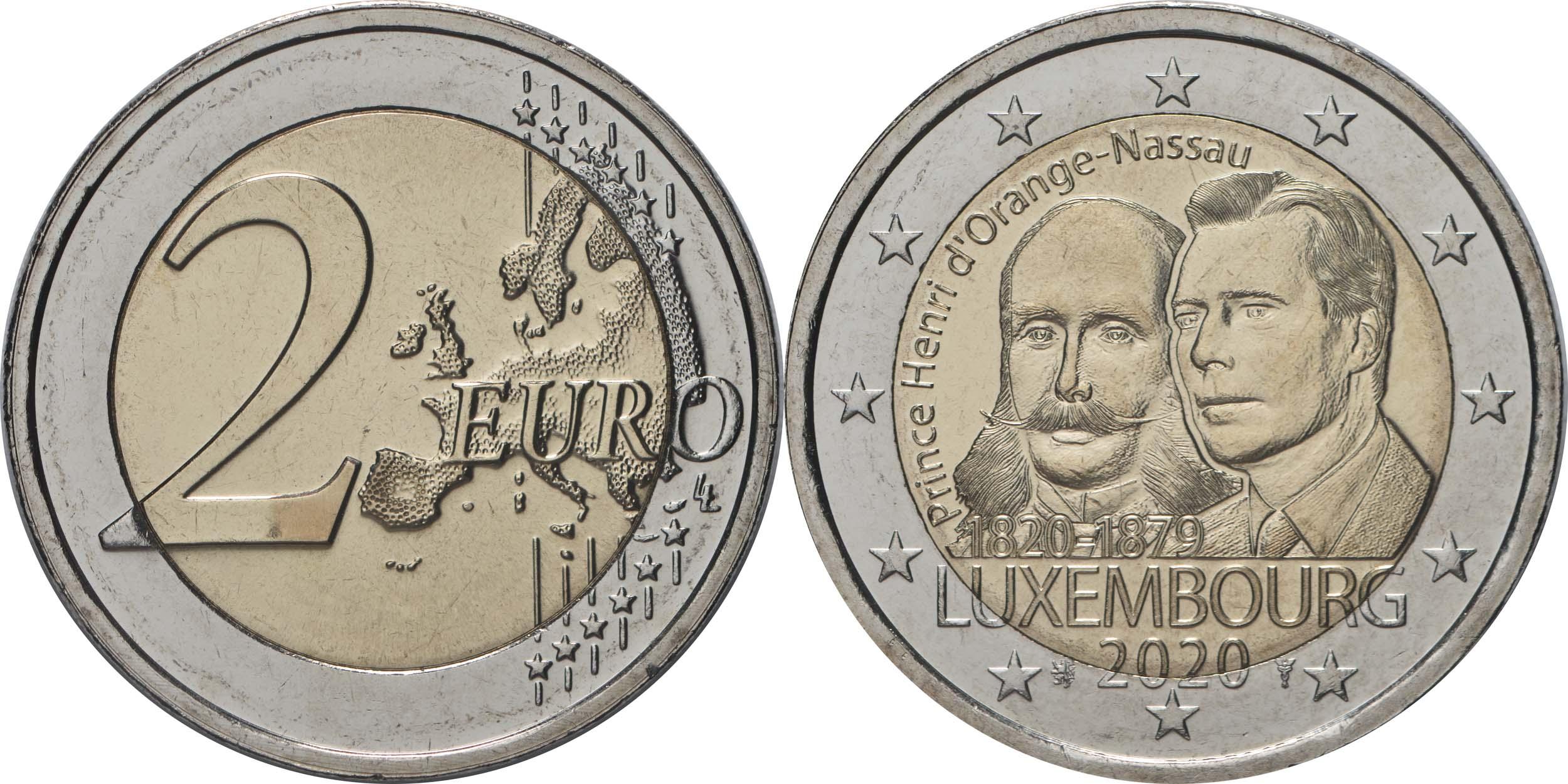 Lieferumfang:Luxemburg : 2 Euro 200. Geburtstag von Prinz Heinrich von Oranien-Nassau  2020 bfr