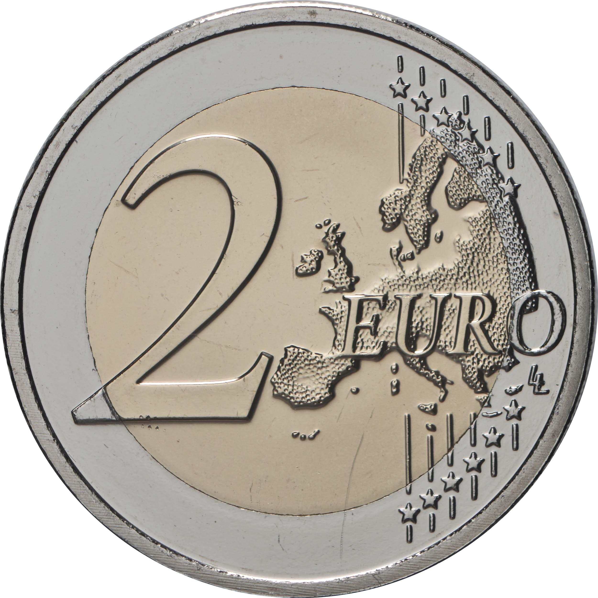 Vorderseite:Luxemburg : 2 Euro 200. Geburtstag von Prinz Heinrich von Oranien-Nassau Münzzeichen Brücke  2020 Stgl.