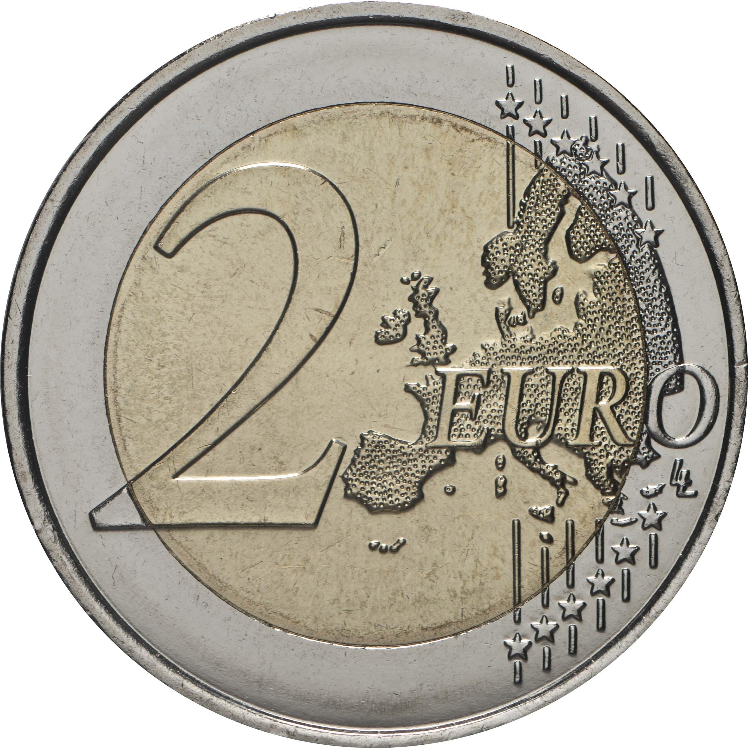 Vorderseite:Frankreich : 2 Euro Charles de Gaulle  2020 bfr
