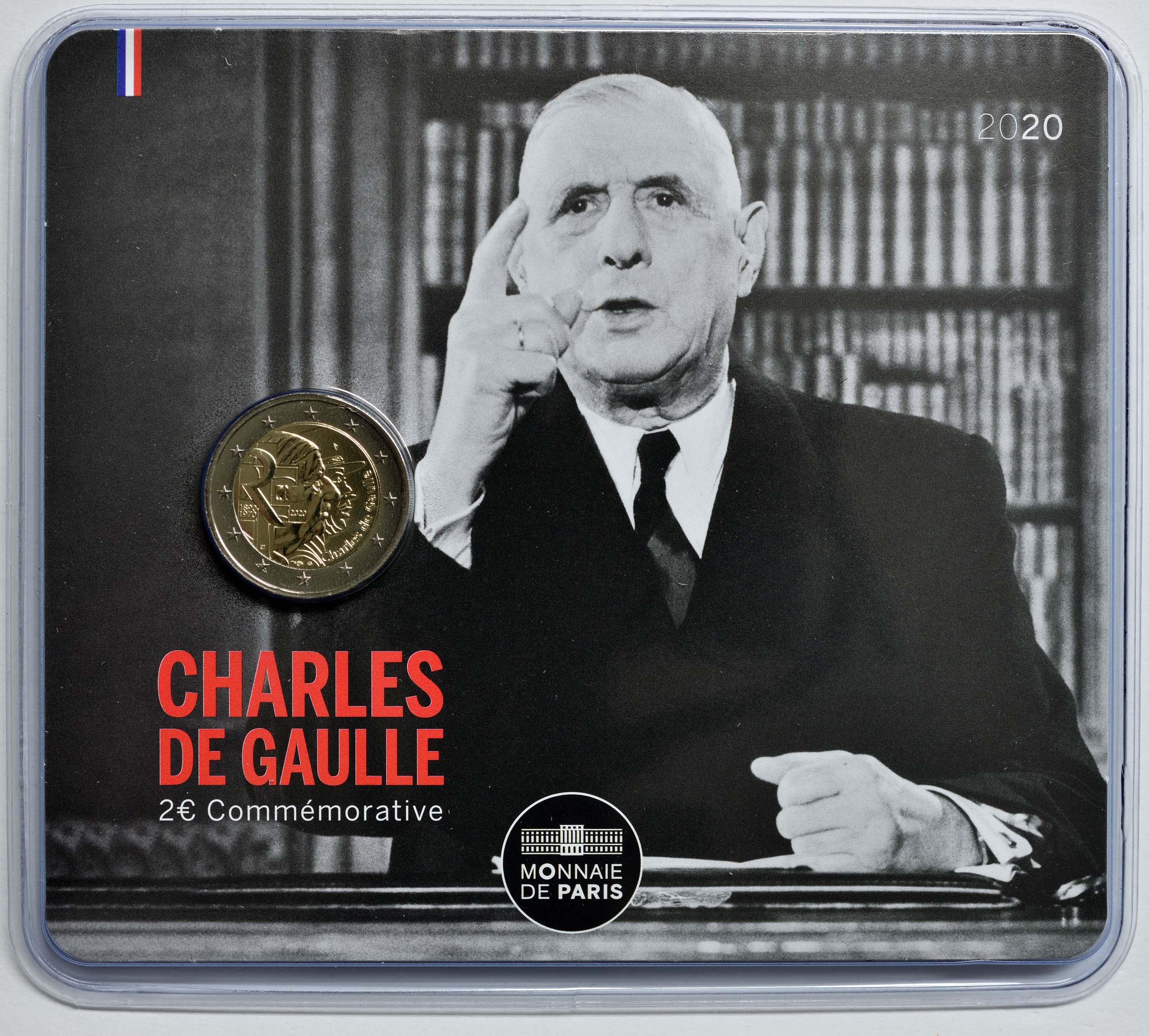 Lieferumfang:Frankreich : 2 Euro Charles de Gaulle  2020 Stgl.