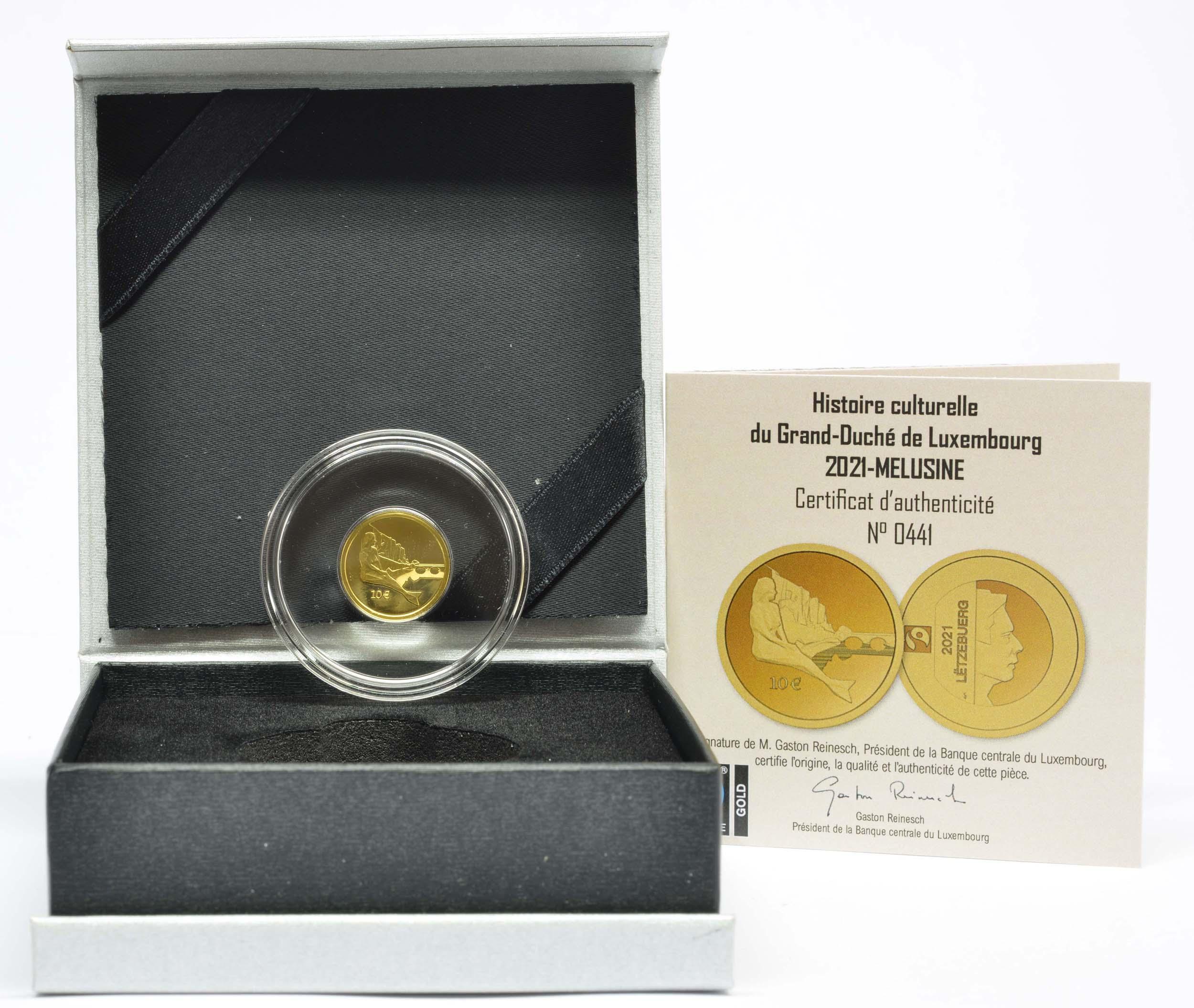Lieferumfang:Luxemburg : 10 Euro Melusina  2021 PP