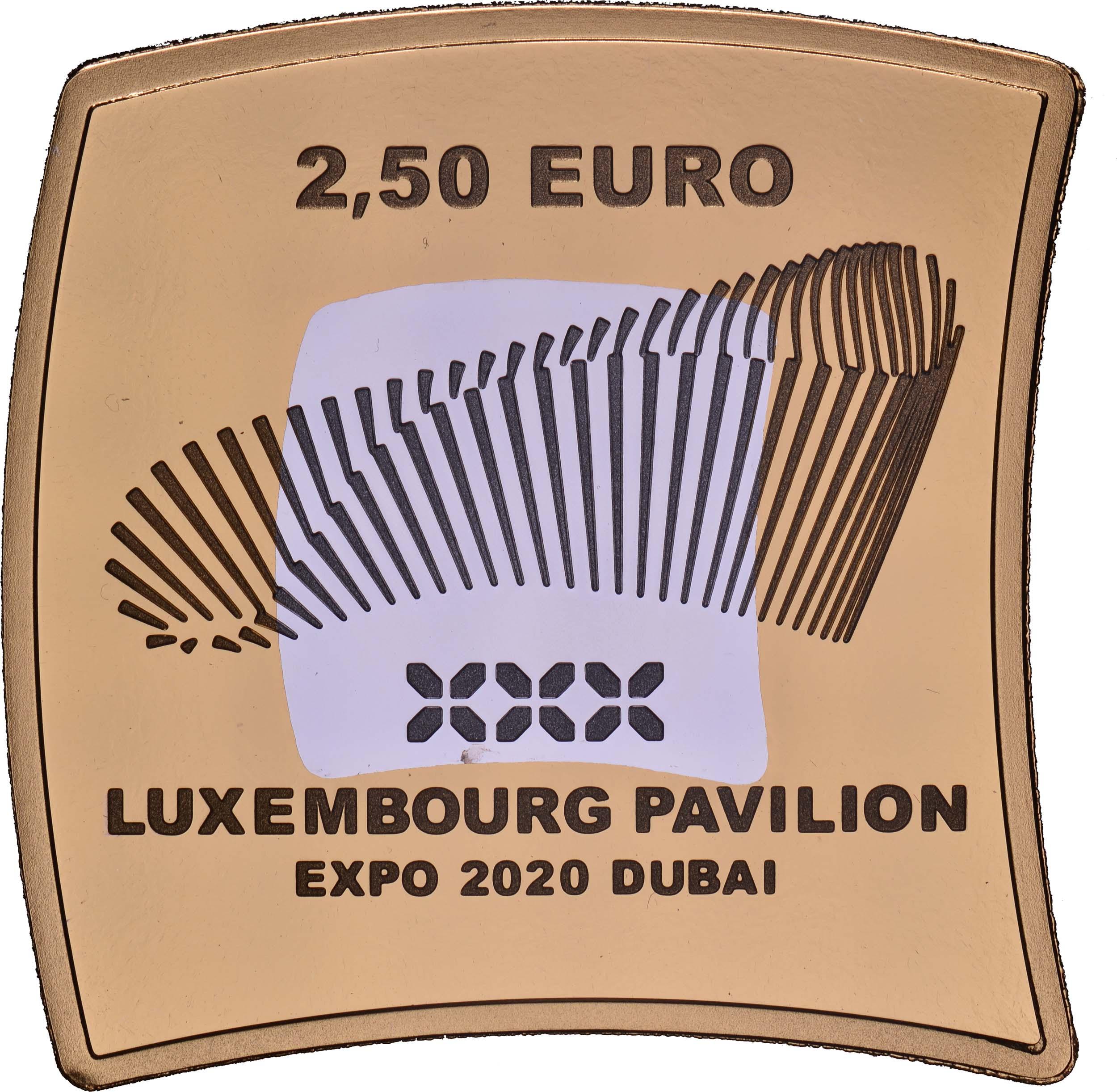 Vorderseite:Luxemburg : 2,5 Euro Weltausstellung Dubai  2020 PP