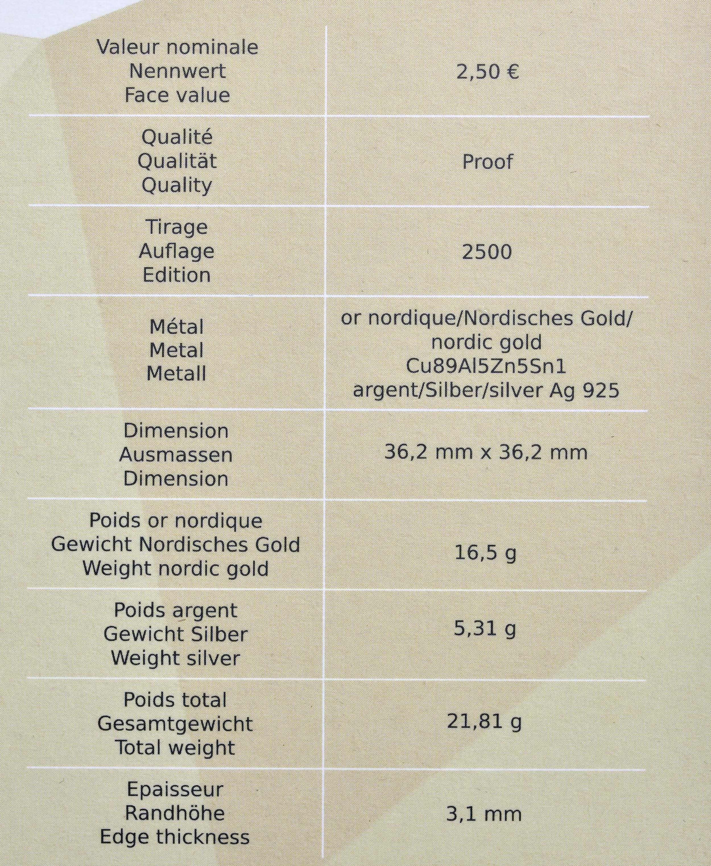 Zertifikat:Luxemburg : 2,5 Euro Weltausstellung Dubai  2020 PP