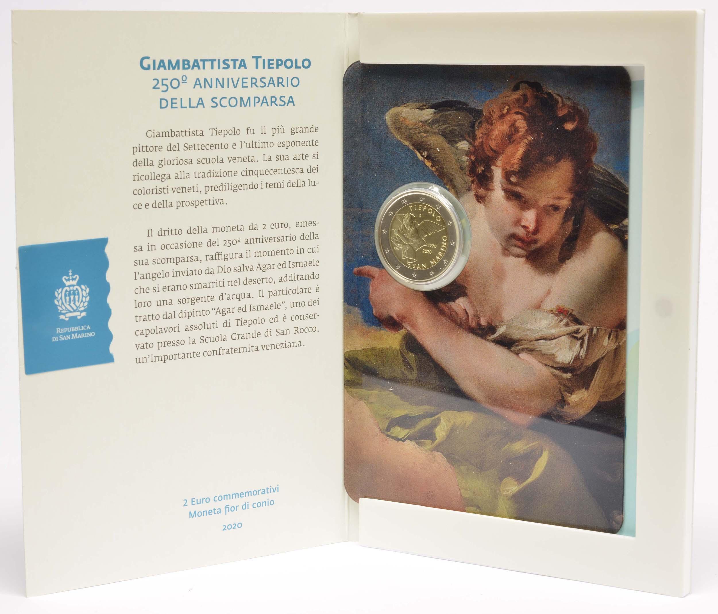 Lieferumfang:San Marino : 2 Euro 250. Todestag von Giovanni Battista Tiepolo  2020 Stgl.