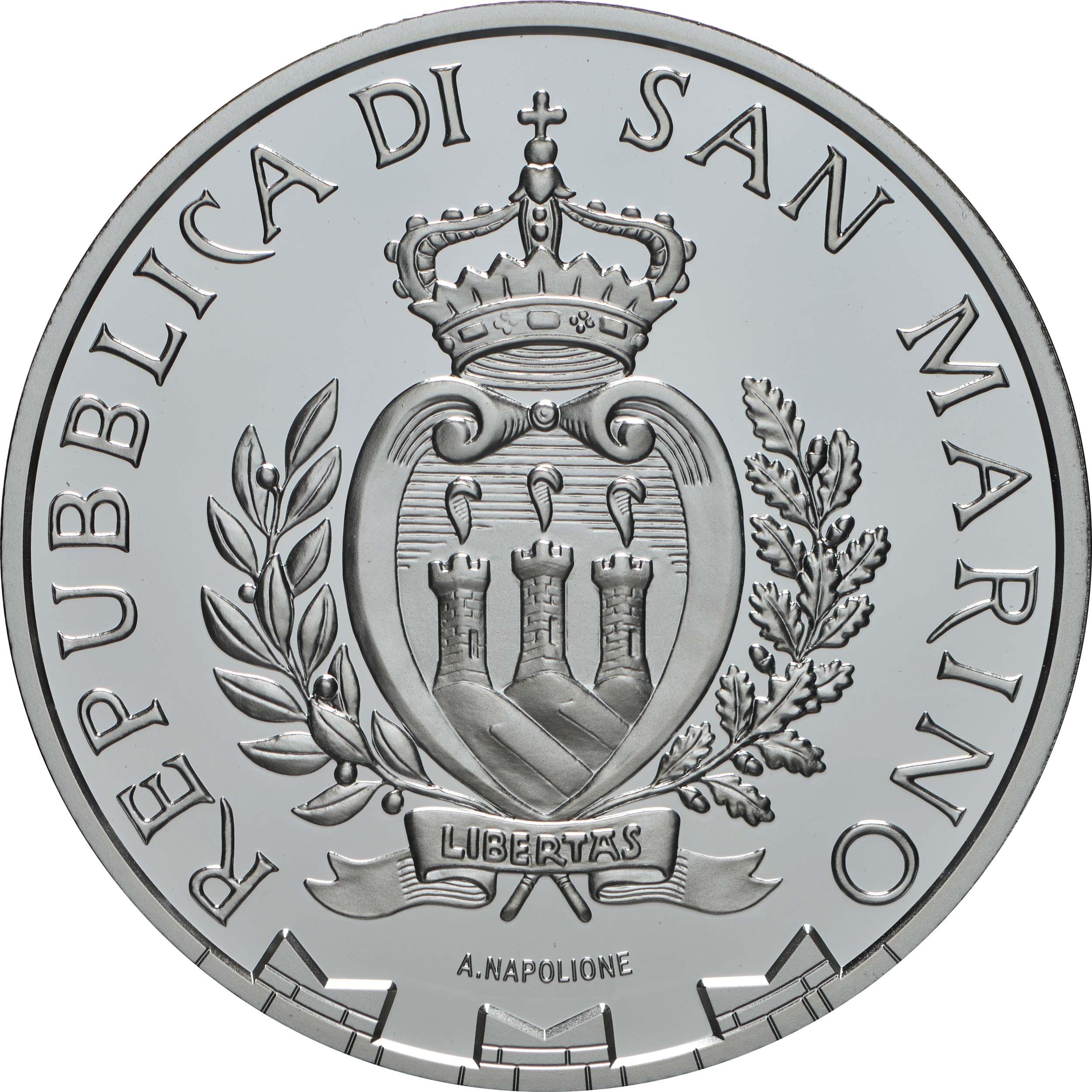 Rückseite:San Marino : 10 Euro 250. Jahrestag der Geburt von Ludwig van Beethoven  2020 PP