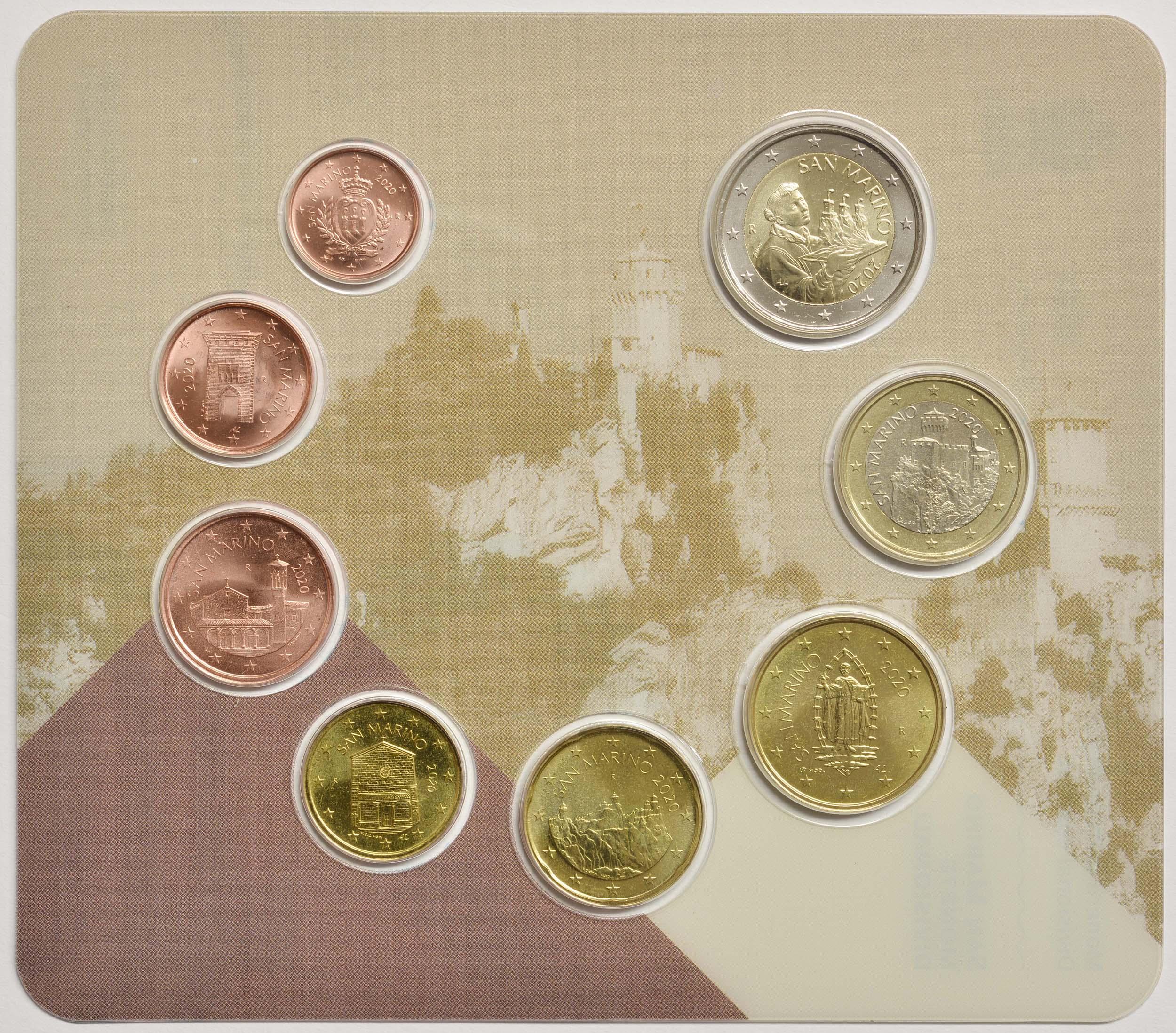 Vorderseite:San Marino : 3,88 Euro KMS San Marino  2020 Stgl.