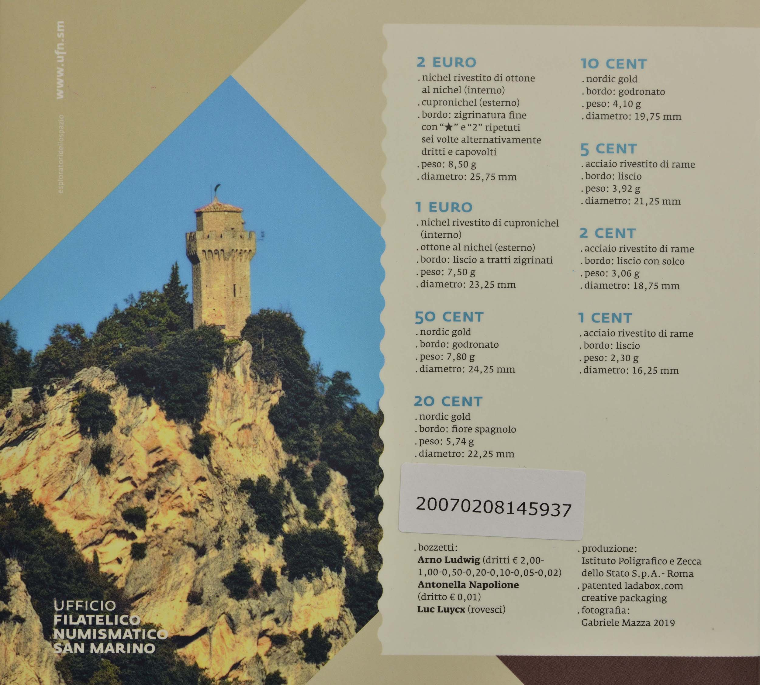 Zertifikat:San Marino : 3,88 Euro KMS San Marino  2020 Stgl.