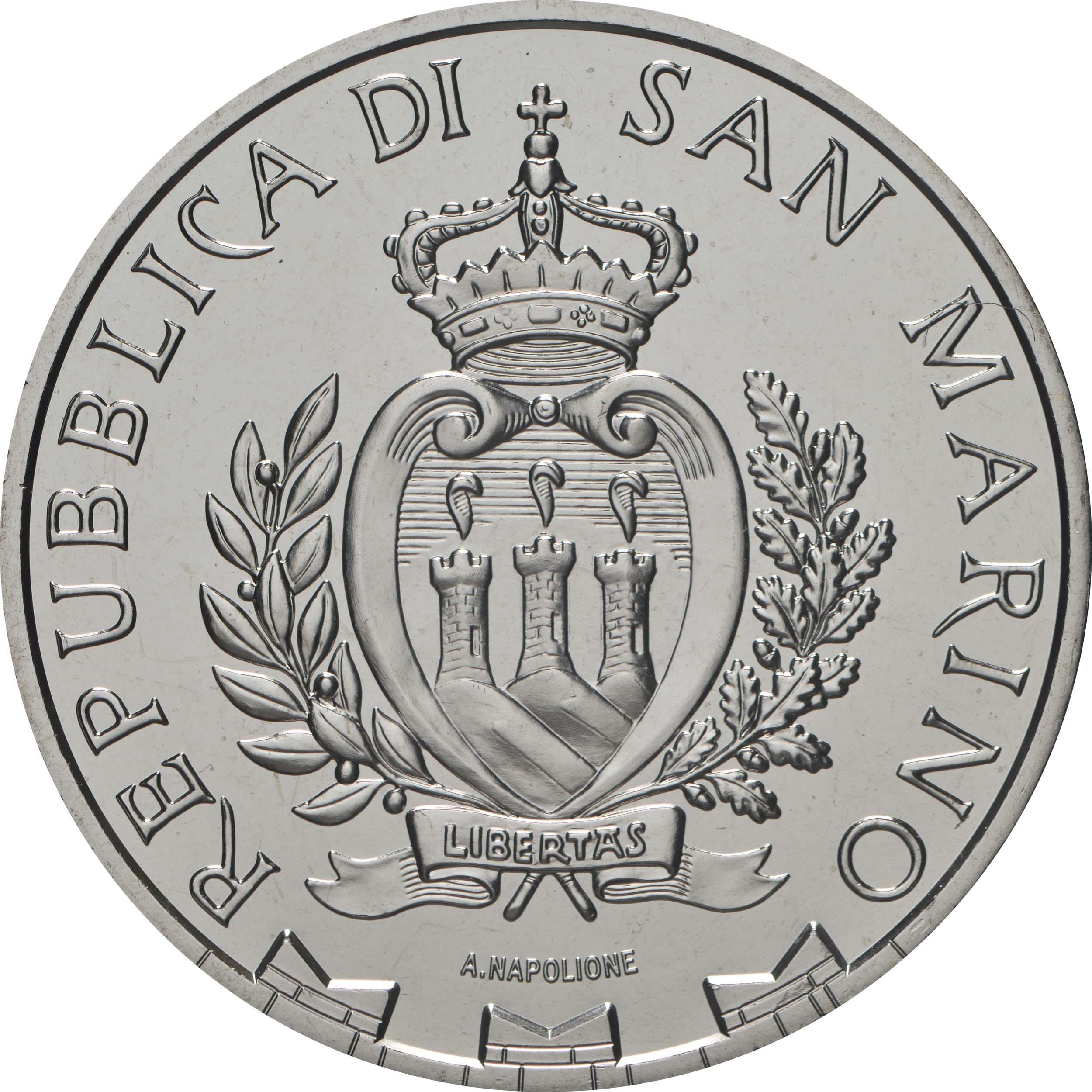 Rückseite:San Marino : 10 Euro 93. Appell des nationalen Alpenvereins in Rimini und San Marino  2020 Stgl.