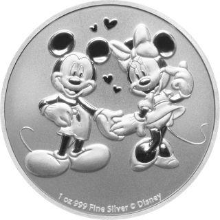 Lieferumfang:Niue : 2 Dollar Disney - Mickey & Minnie   1 oz Bullion  2020 Stgl.