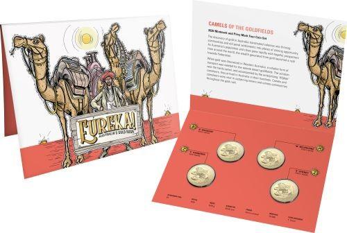 Lieferumfang:Australien : 4x1 Dollar Eureka - Australischer Goldrausch Mintmark Set  2020 Stgl.
