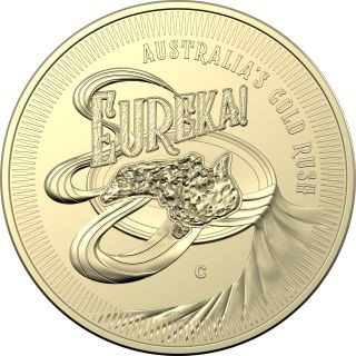 Vorderseite:Australien : 4x1 Dollar Eureka - Australischer Goldrausch Mintmark Set  2020 Stgl.